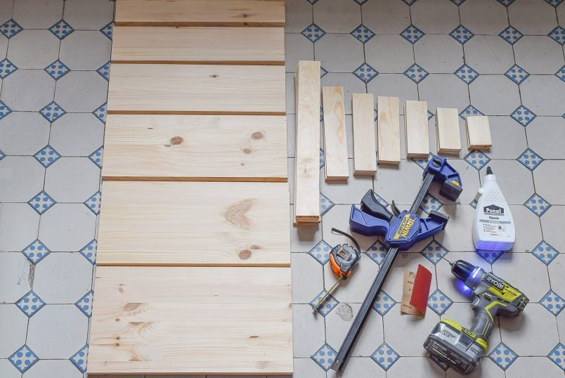DIY Ladder Shelf - Supplies | Little House On The Corner
