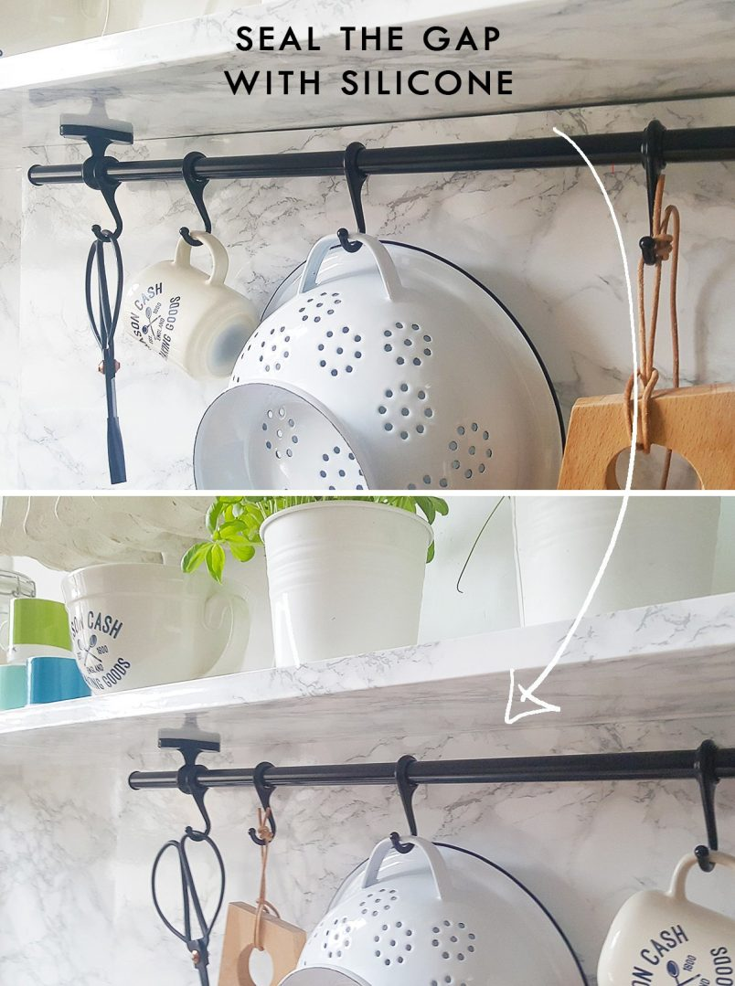 DIY Slim Floating Shelves | Seal Gap With Silicone | Little House On The Corner