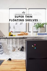 DIY Thin Floating Shelves | Little House On The Corner