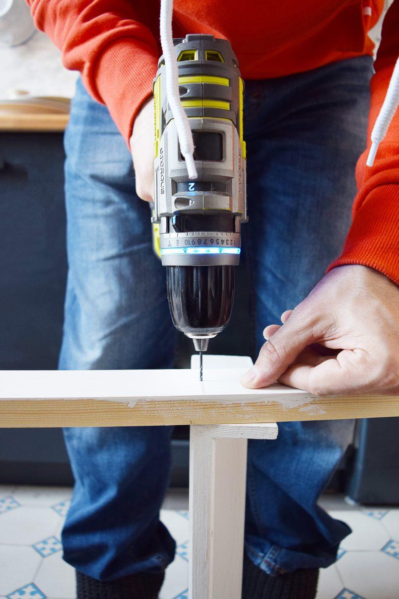 DIY Ladder Shelves - Assemble | Little House On The Corner