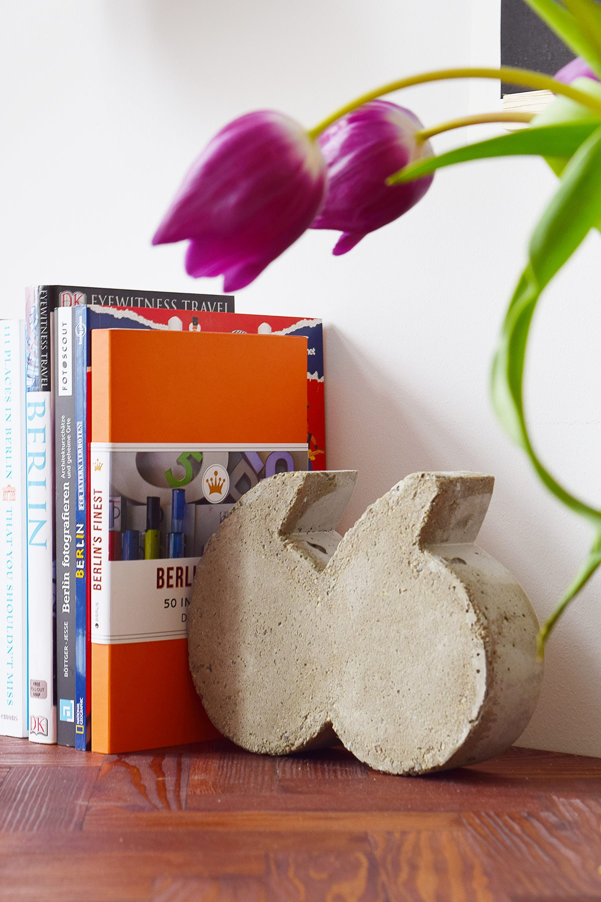 DIY Concrete Quote Bookends | Little House On The Corner
