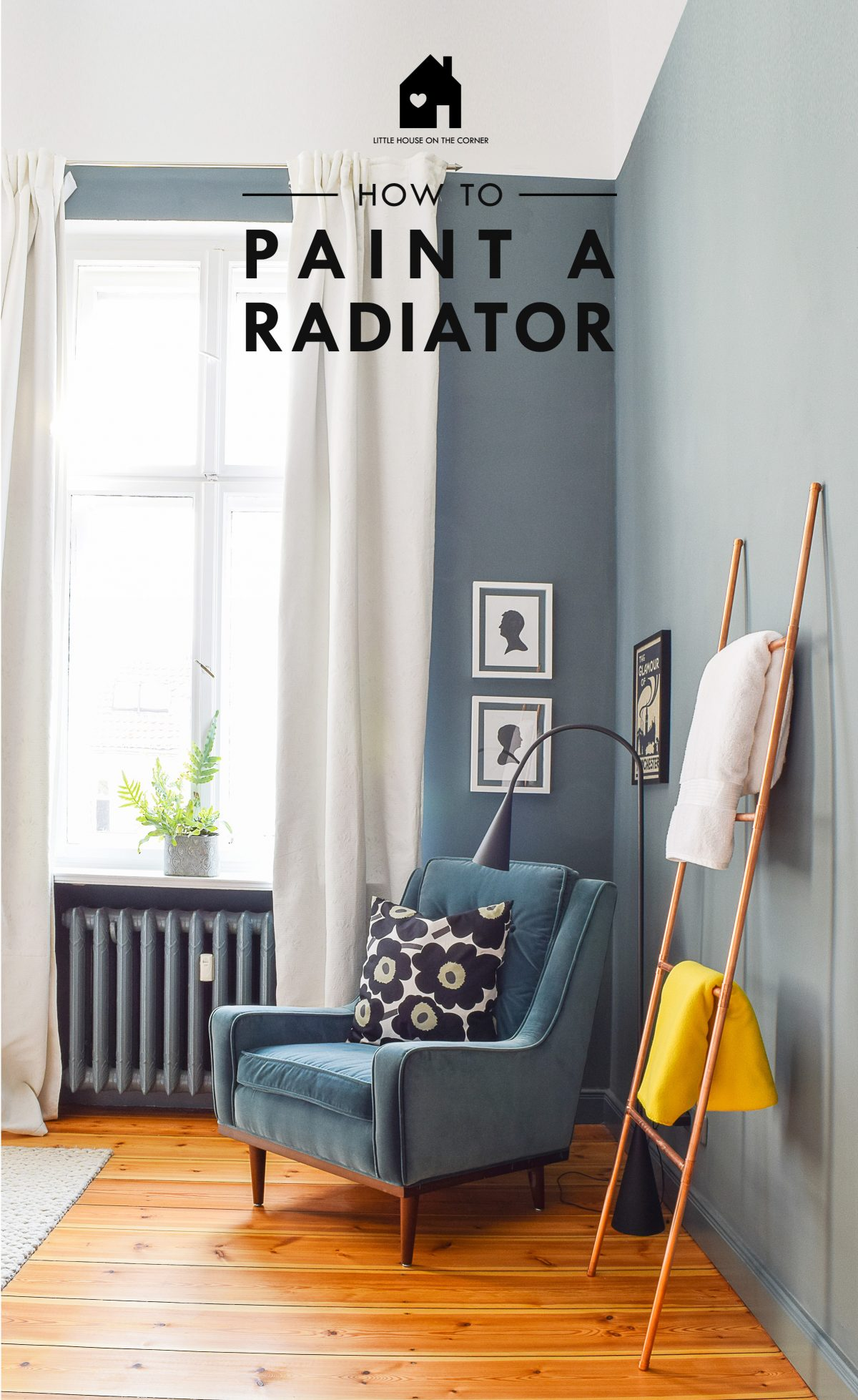 DIY Guide - How To Paint A Radiator | Little House On The Corner