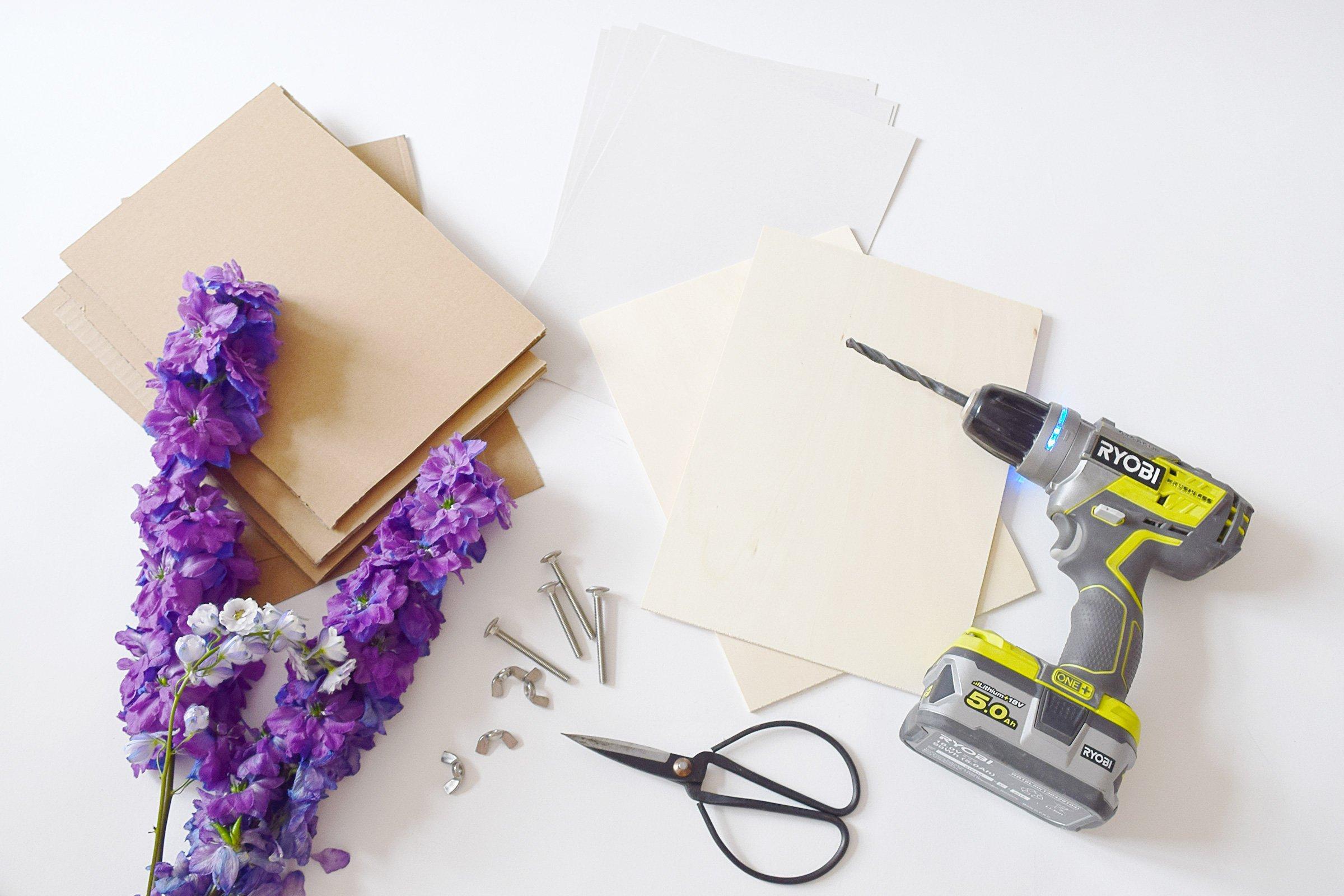DIY Flower Press - Supplies | Little House On The Corner