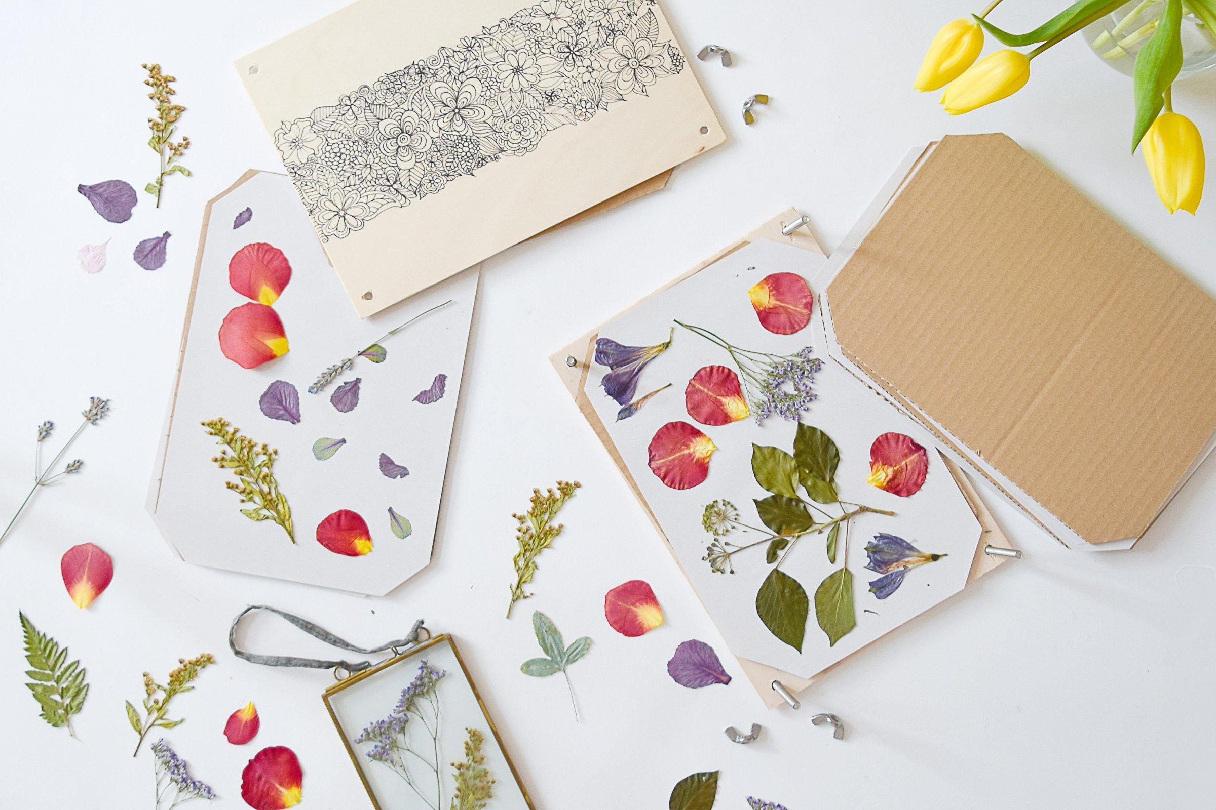 DIY Flower Press | Little House On The Corner