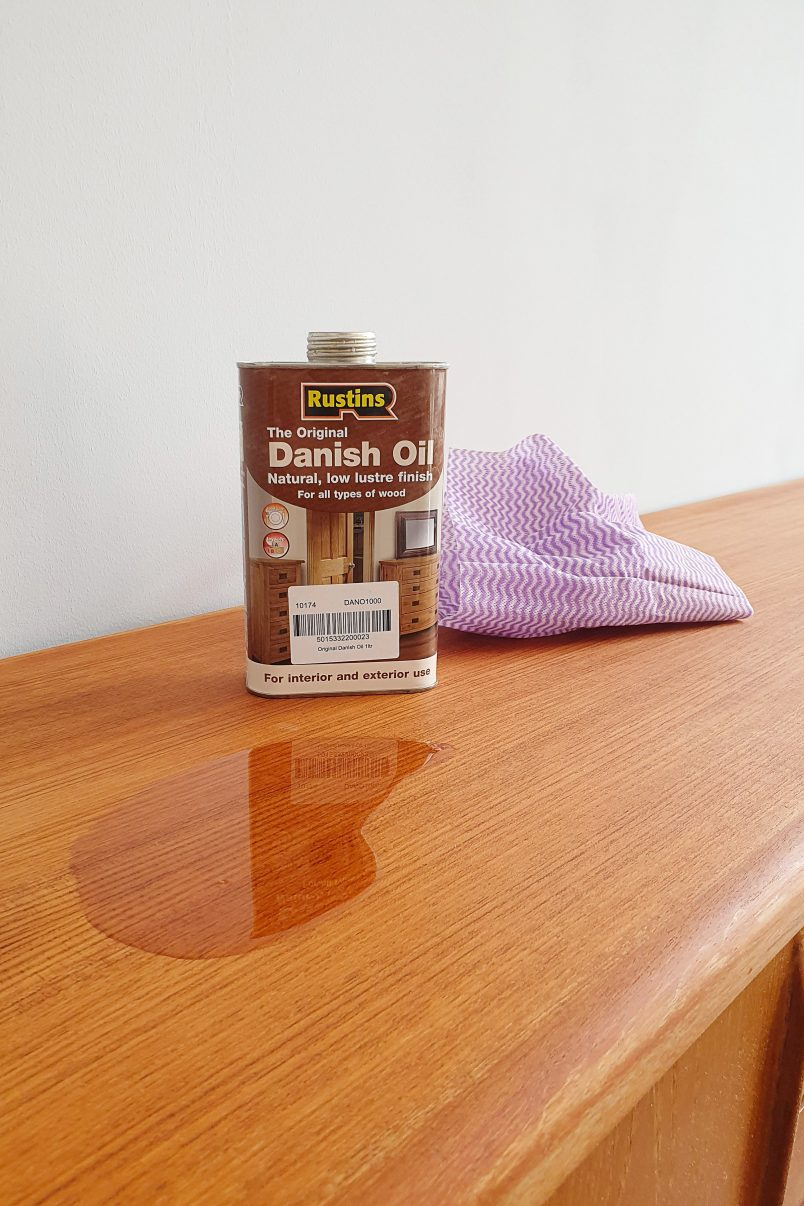 How To Remove Watermarks From Wooden Furniture - Danish Oil | Little House On The Corner