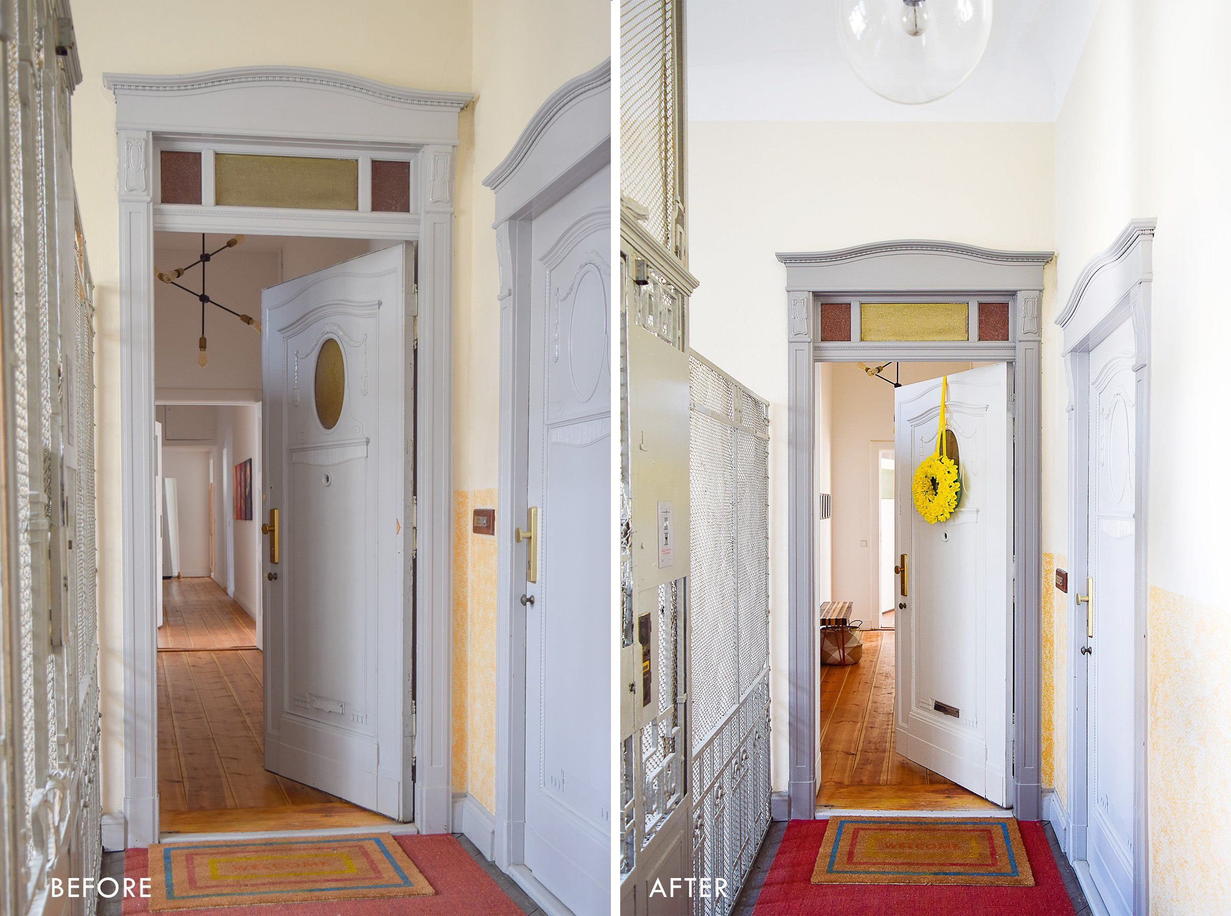 Front Door Makeover - Before and After | Little House On The Corner