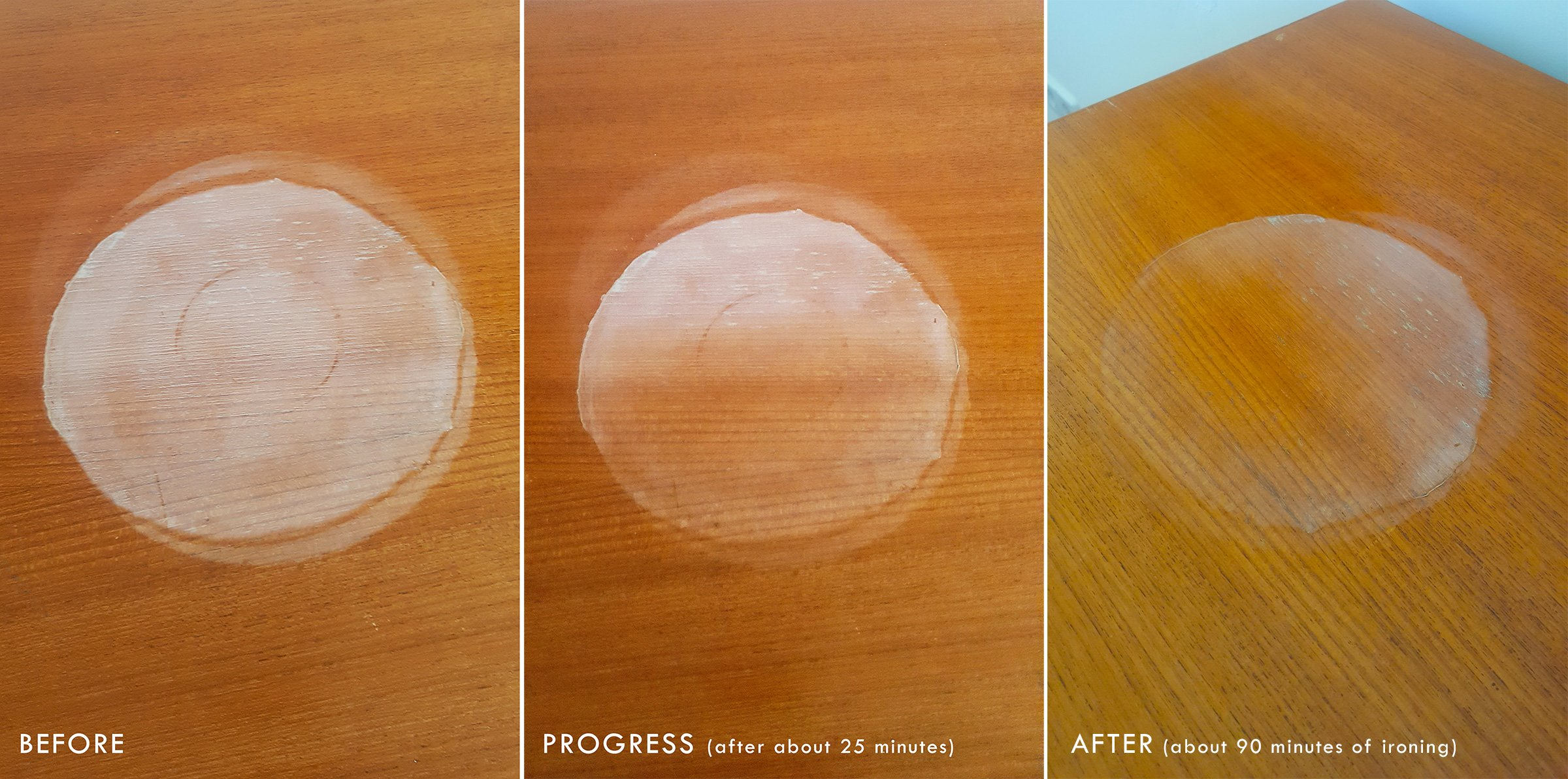 How To Remove Watermarks From Wooden Furniture Ironing Little House On The Corner