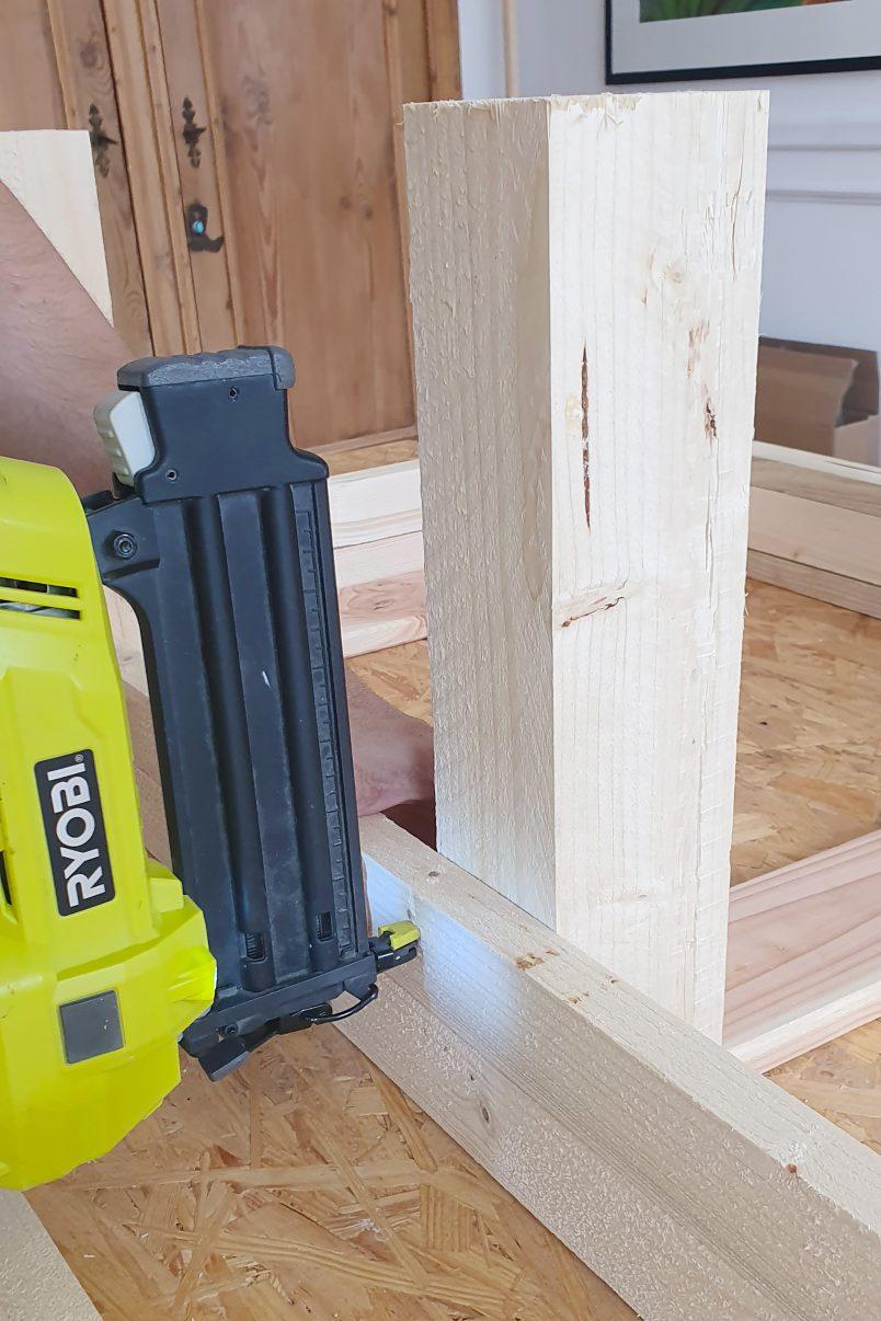 DIY Garden Bench With Hidden Storage - Attach Slats | Little House On The Corner
