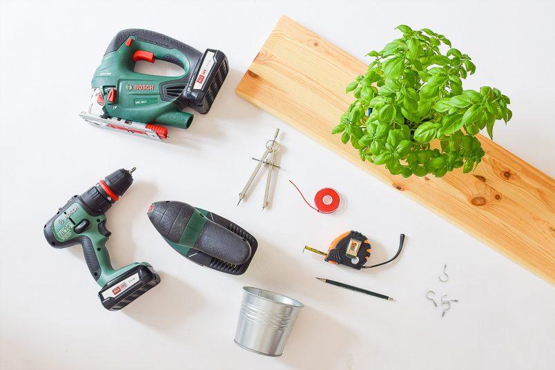 DIY Hanging Herb Garden - Supplies | Little House On The Corner