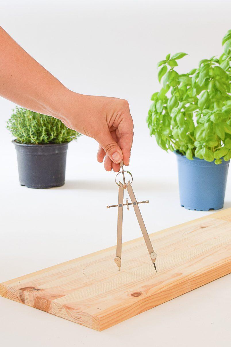 DIY Hanging Herb Garden - Measure | Little House On The Corner