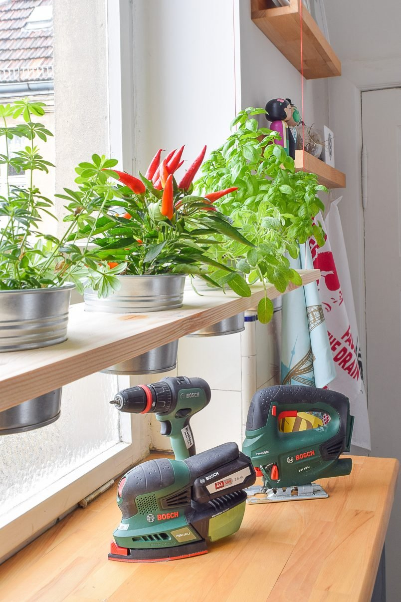 DIY Hanging Herb Garden with Bosch | Little House On The Corner