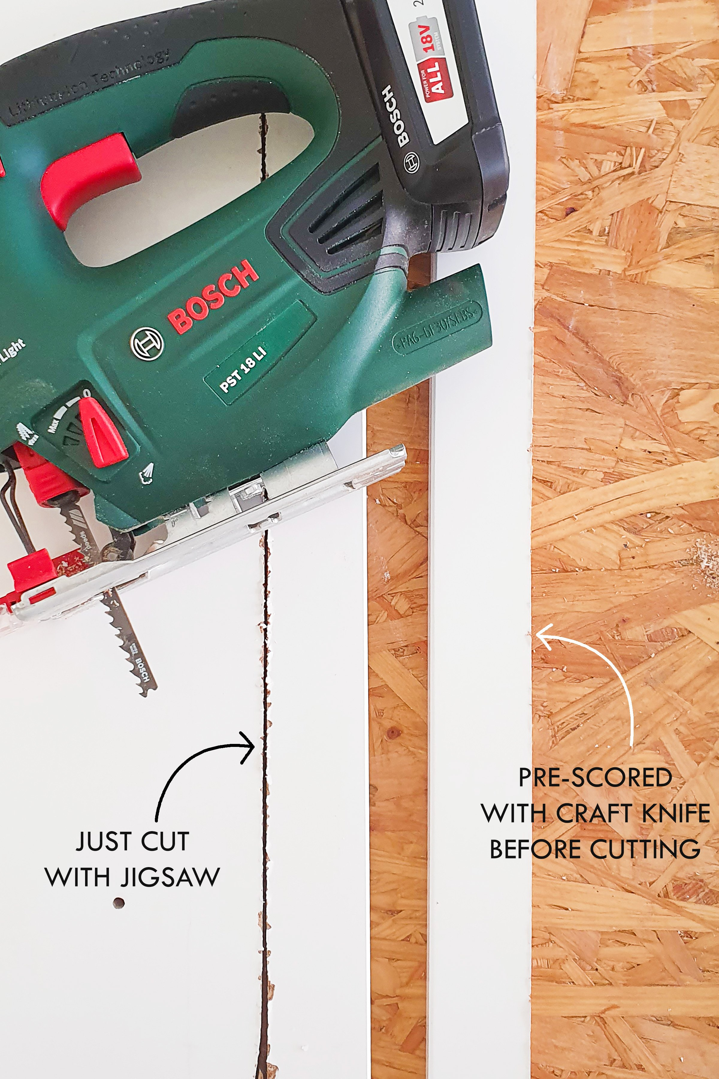 Ikea Hemnes Hack with Cane Webbing - Drill & Cut | Little House On The Corner