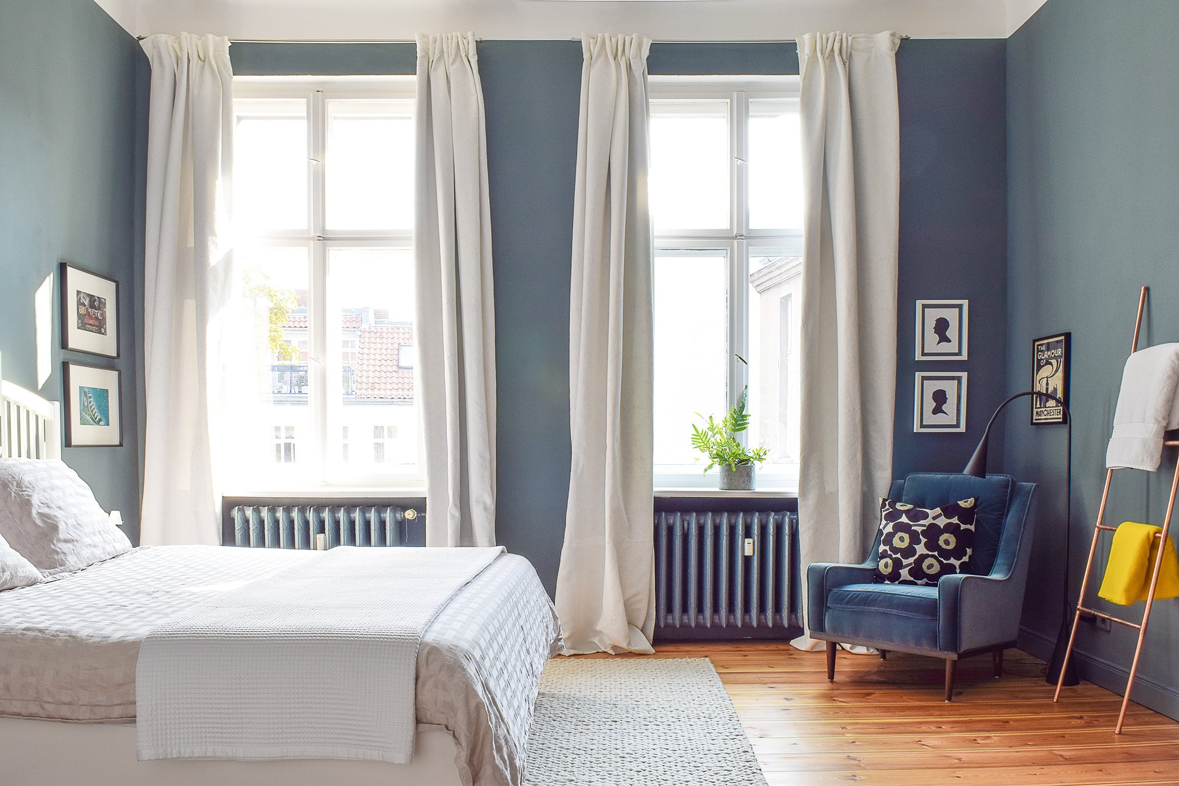 Master Bedroom | Inchyra Blue | Little House On The Corner