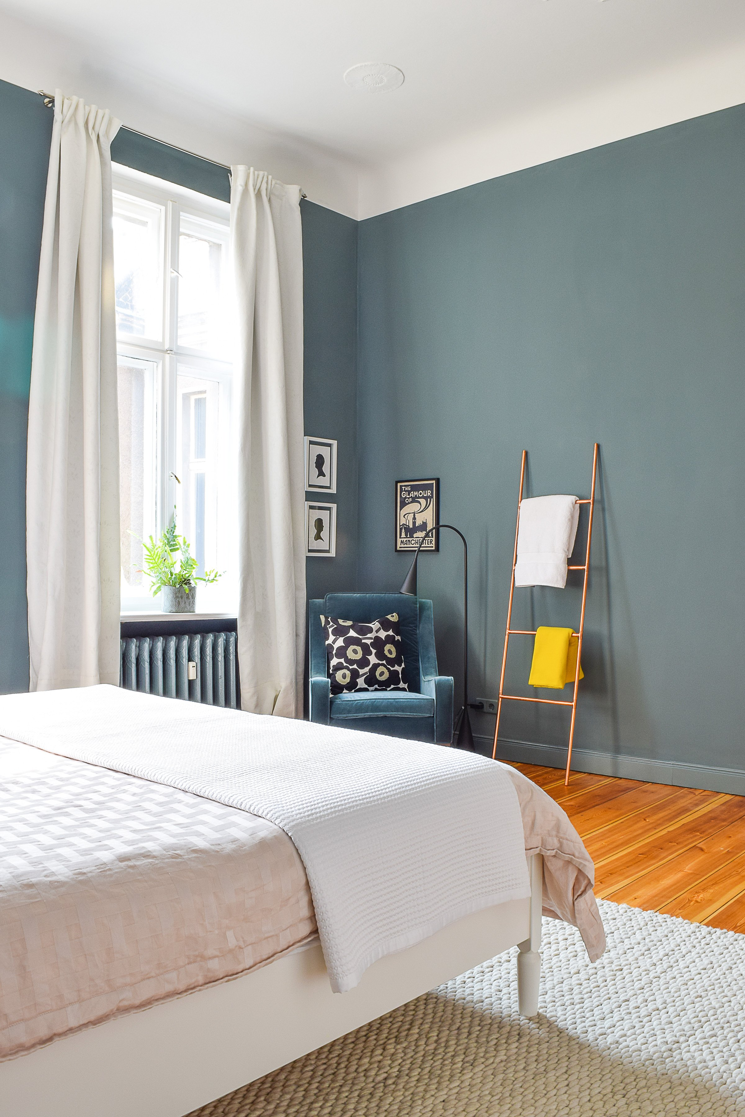 Master Bedroom Makeover | Inchyra Blue | Little House On The Corner