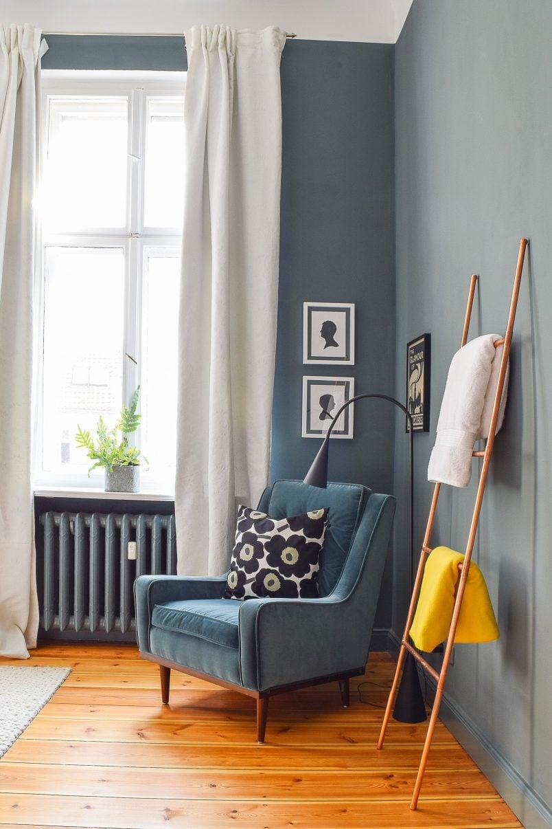 Master Bedroom Makeover   Farrow & Ball Inchyra Blue   Scott Armchair   Little House On The Corner