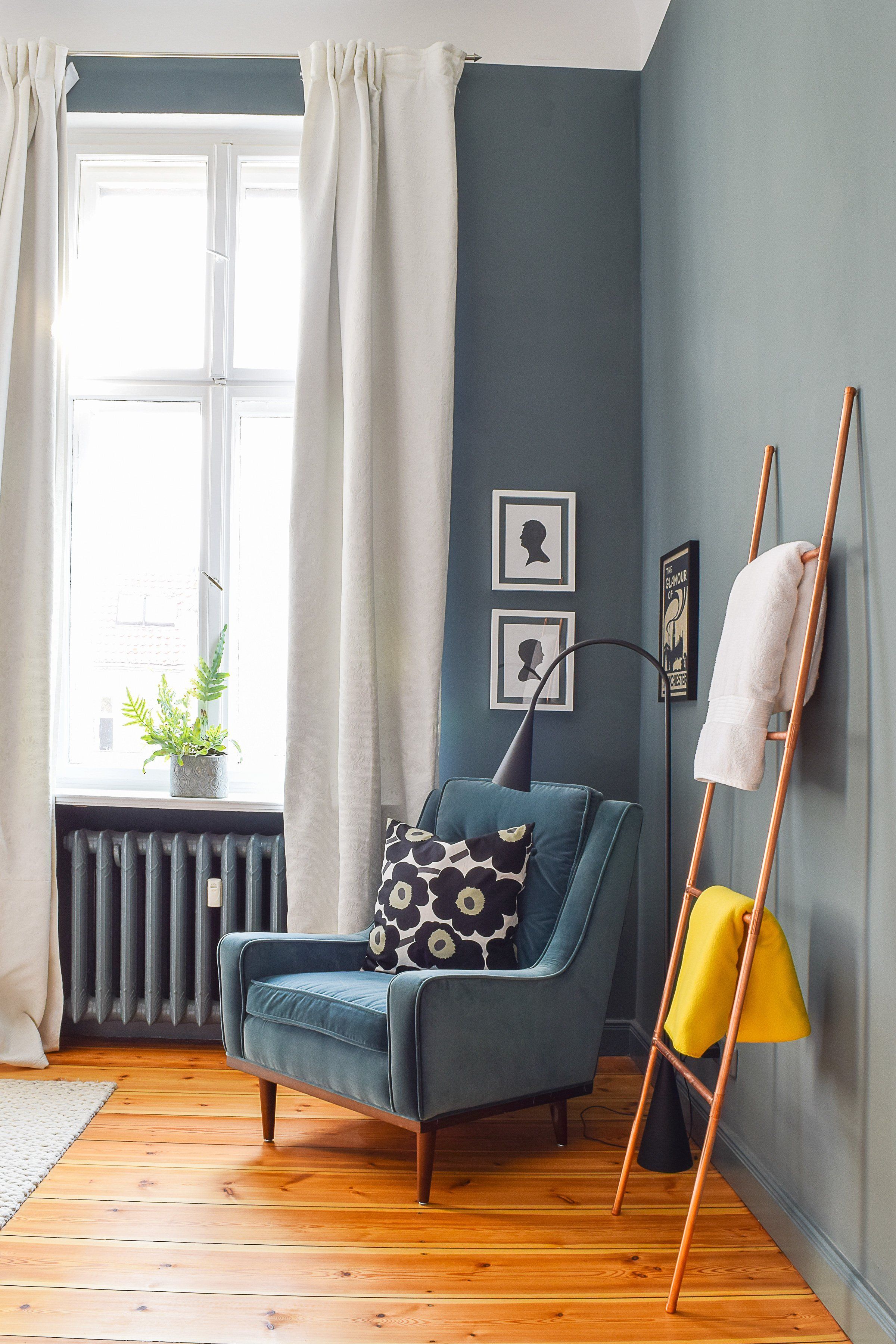 Master Bedroom Makeover | Farrow & Ball Inchyra Blue | Scott Armchair | Little House On The Corner