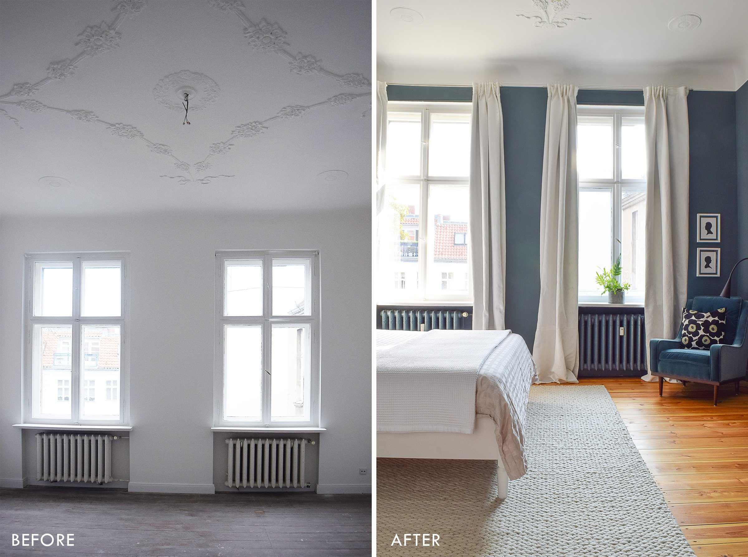 Master Bedroom Before and After | Little House On The Corner
