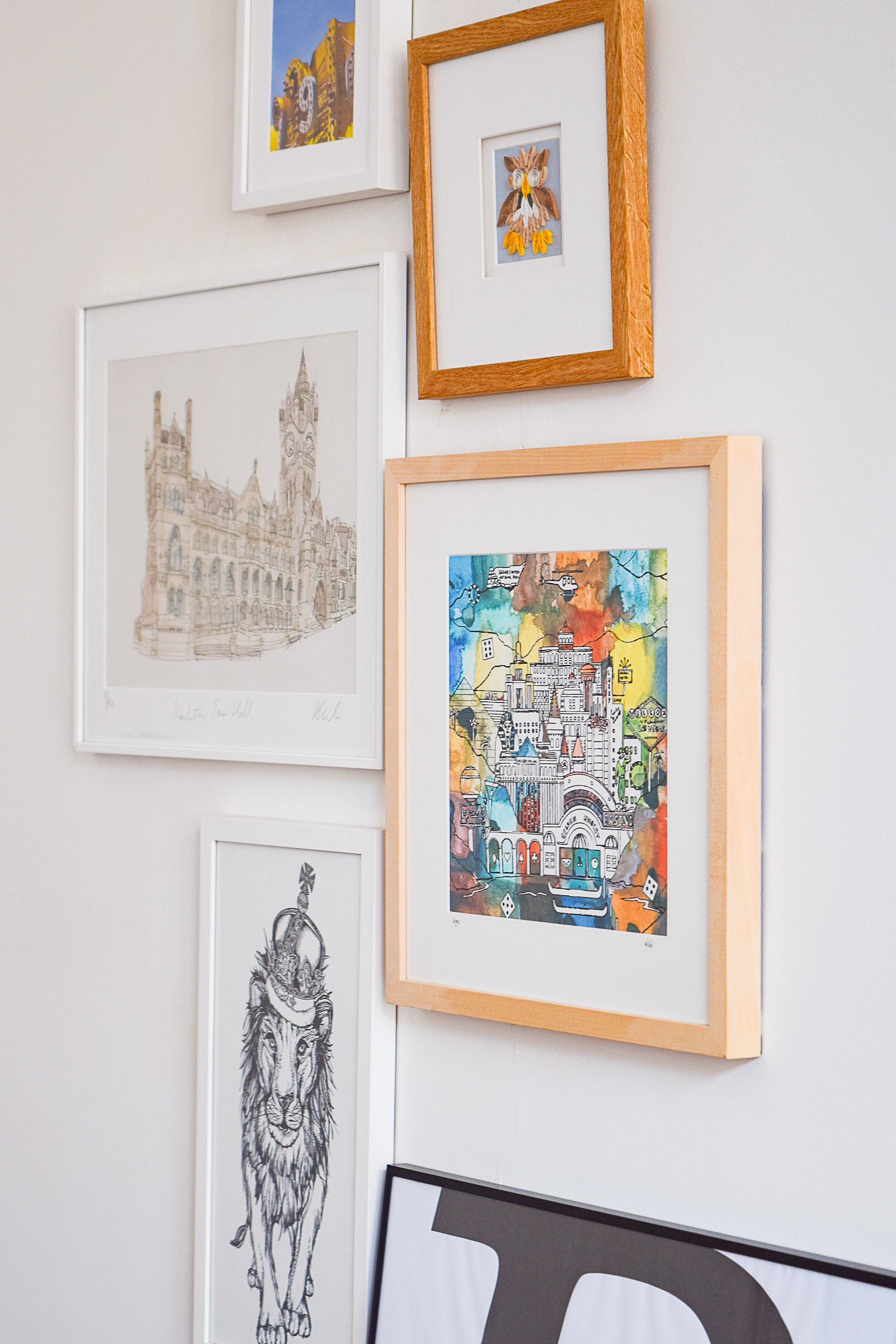 Gallery Wall with Manchester Art | Little House On The Corner
