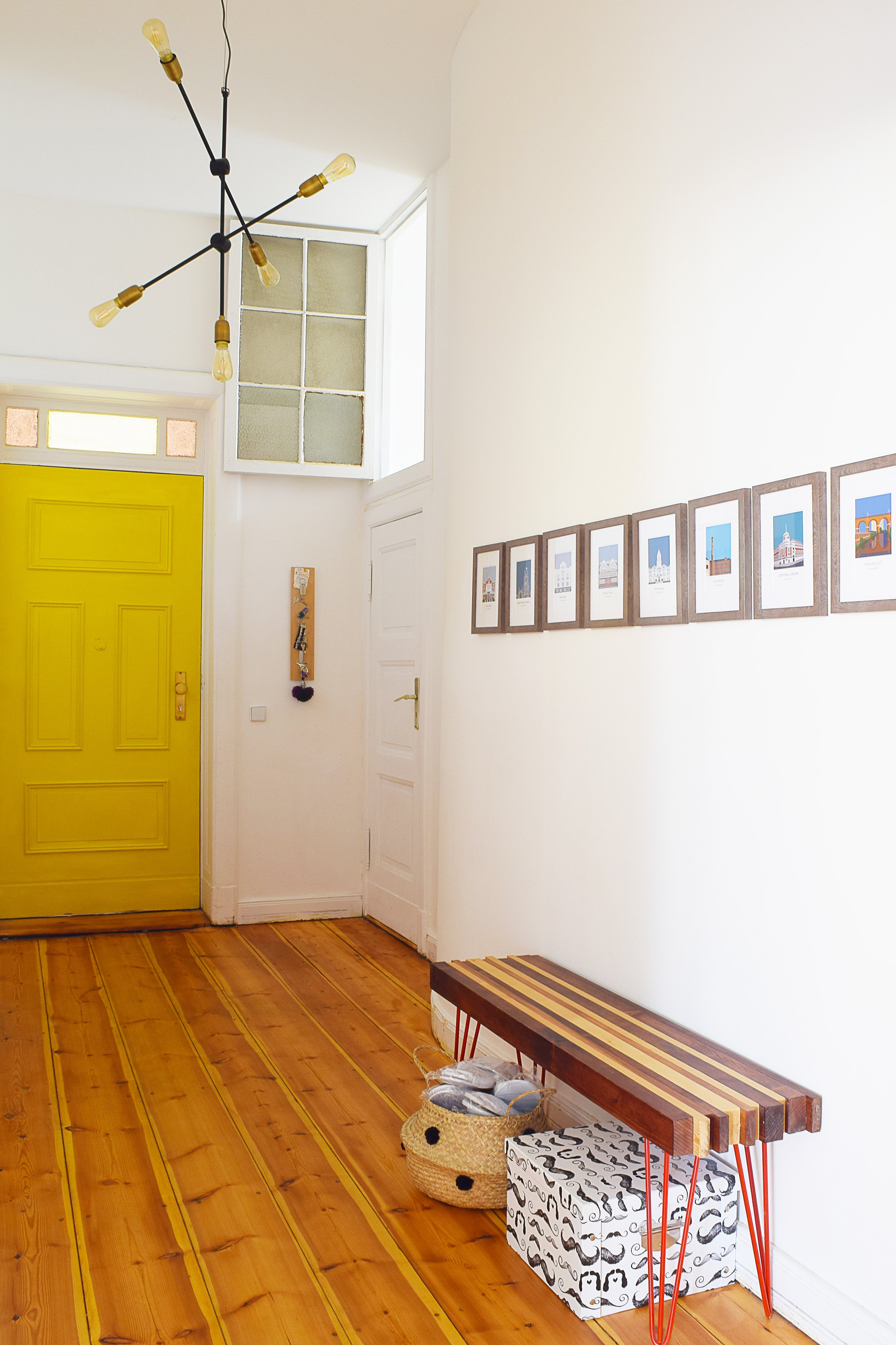 Hallway with Yellow Front Door | Little House On The Corner