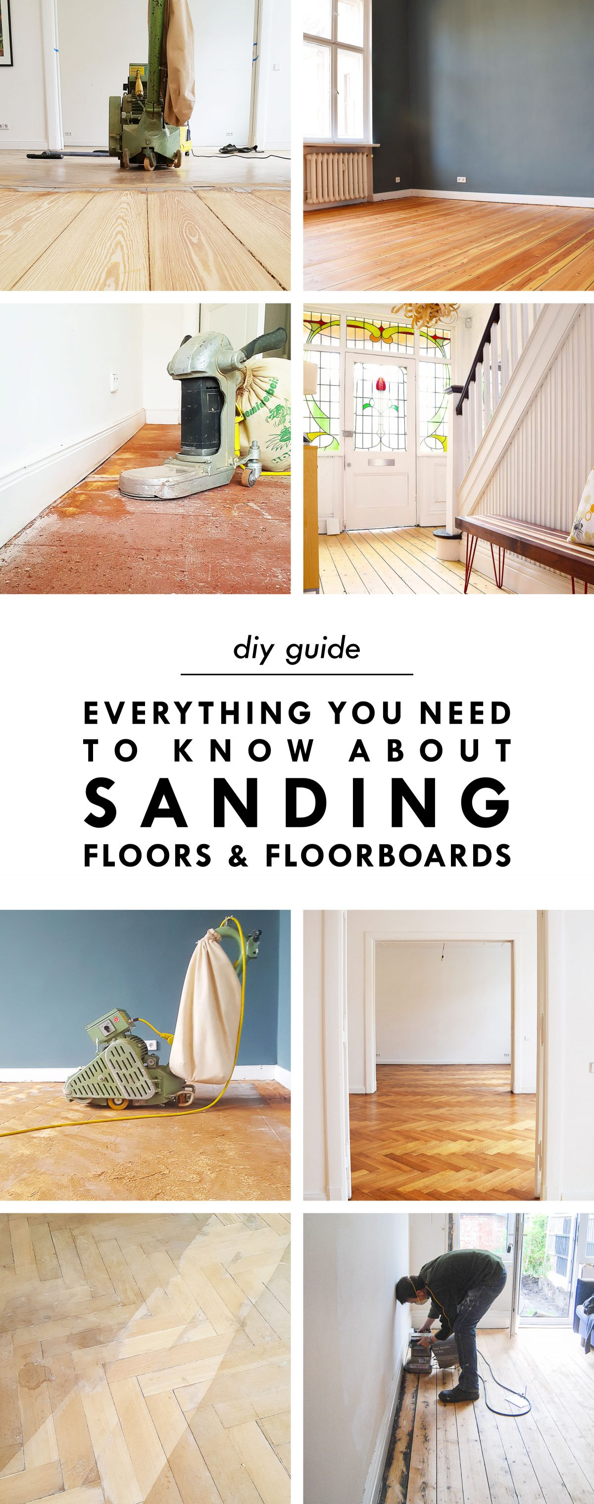 Everything You've Ever Wanted To Know About Sanding Wooden Floors And Floorboards | Little House On The Corner