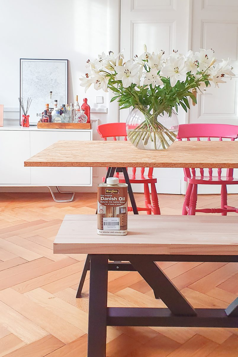 DIY Dining Room Bench - Danish Oil | Little House On The Corner