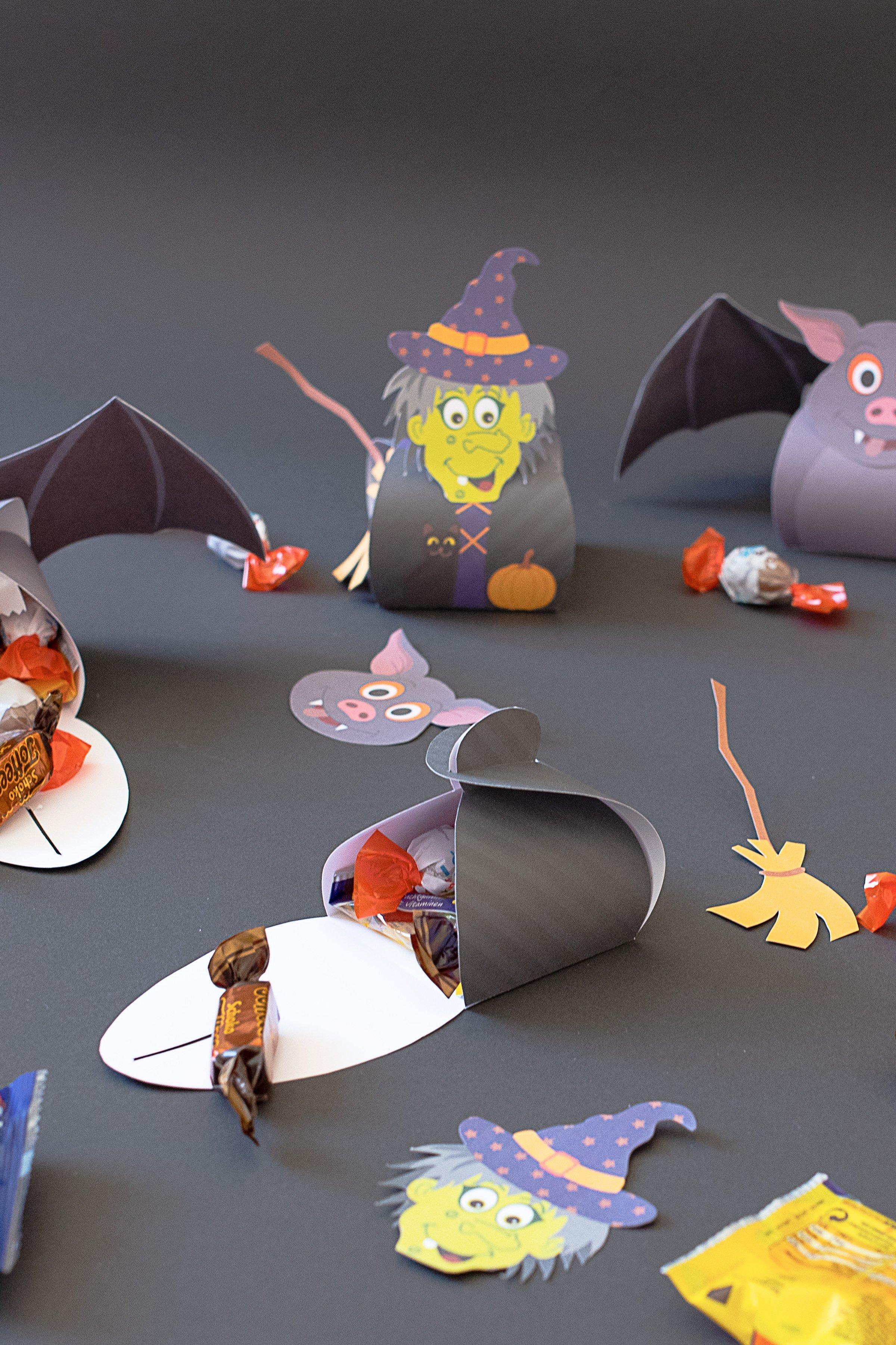 Halloween Treat Boxes - Witch Treat Box - Bat Treat Box - Fill | Little House On The Corner