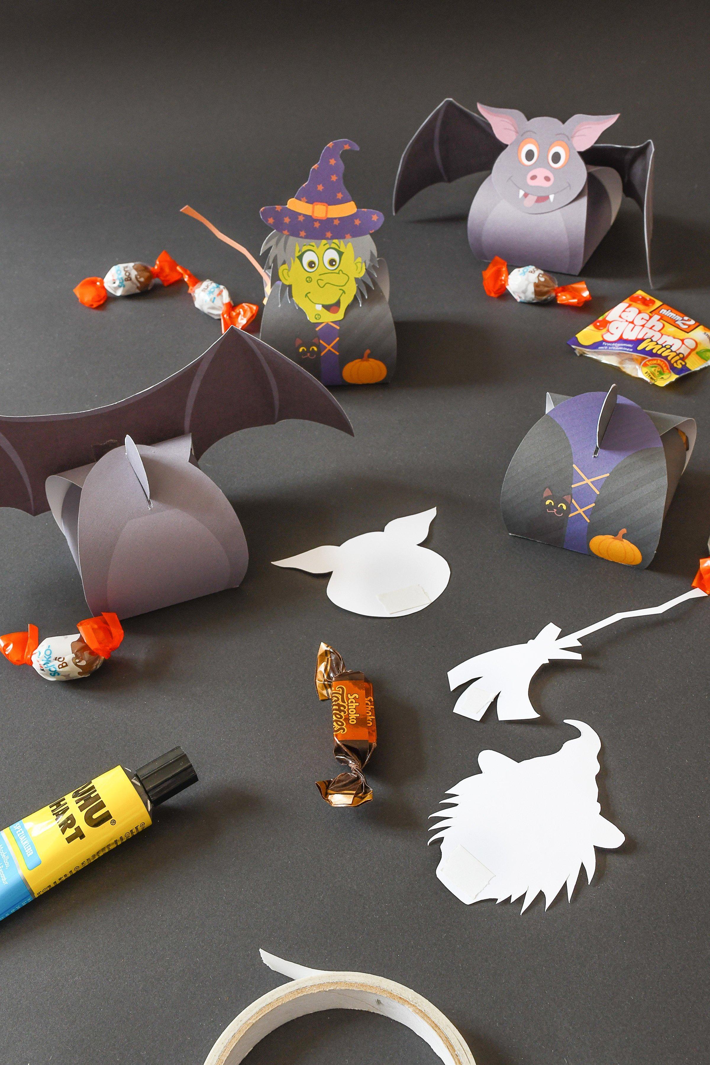 Halloween Treat Boxes - Witch Treat Box - Bat Treat Box - Assemble | Little House On The Corner