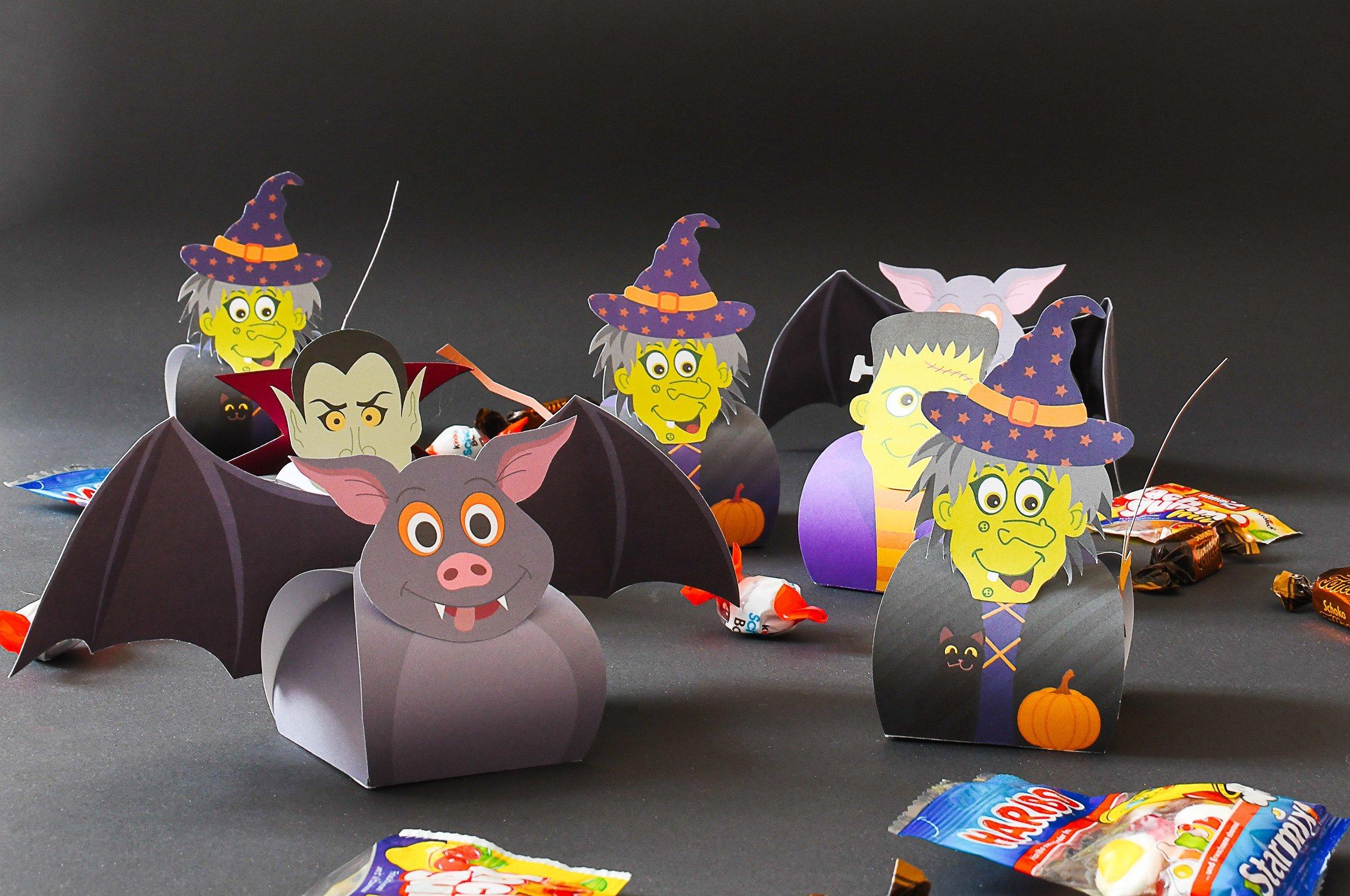 Halloween Treat Boxes - Witch Treat Box - Bat Treat Box - Frankenstein Box - Dracula Box | Little House On The Corner