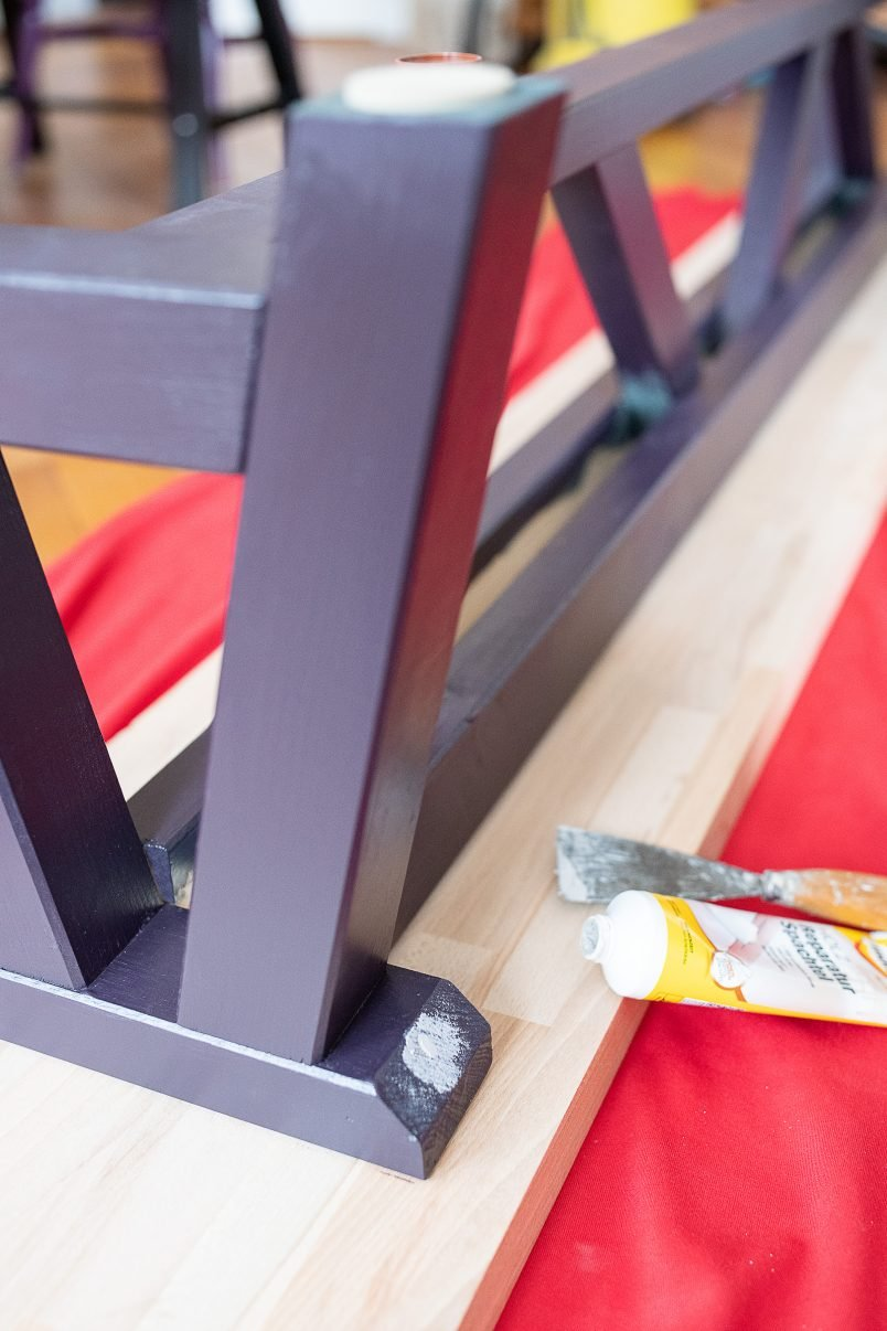 DIY Dining Room Bench - Add The Top | Little House On The Corner