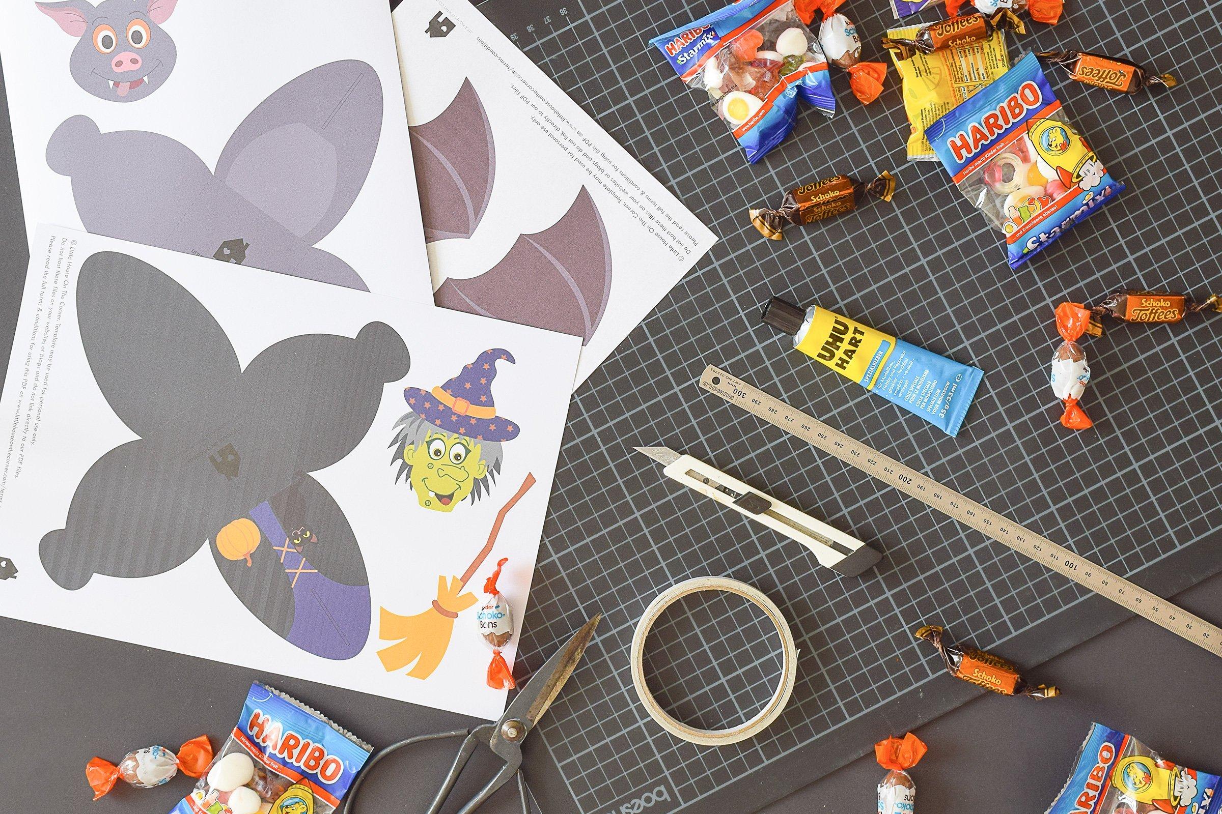 Halloween Treat Boxes - Witch Treat Box - Bat Treat Box - Supplies | Little House On The Corner