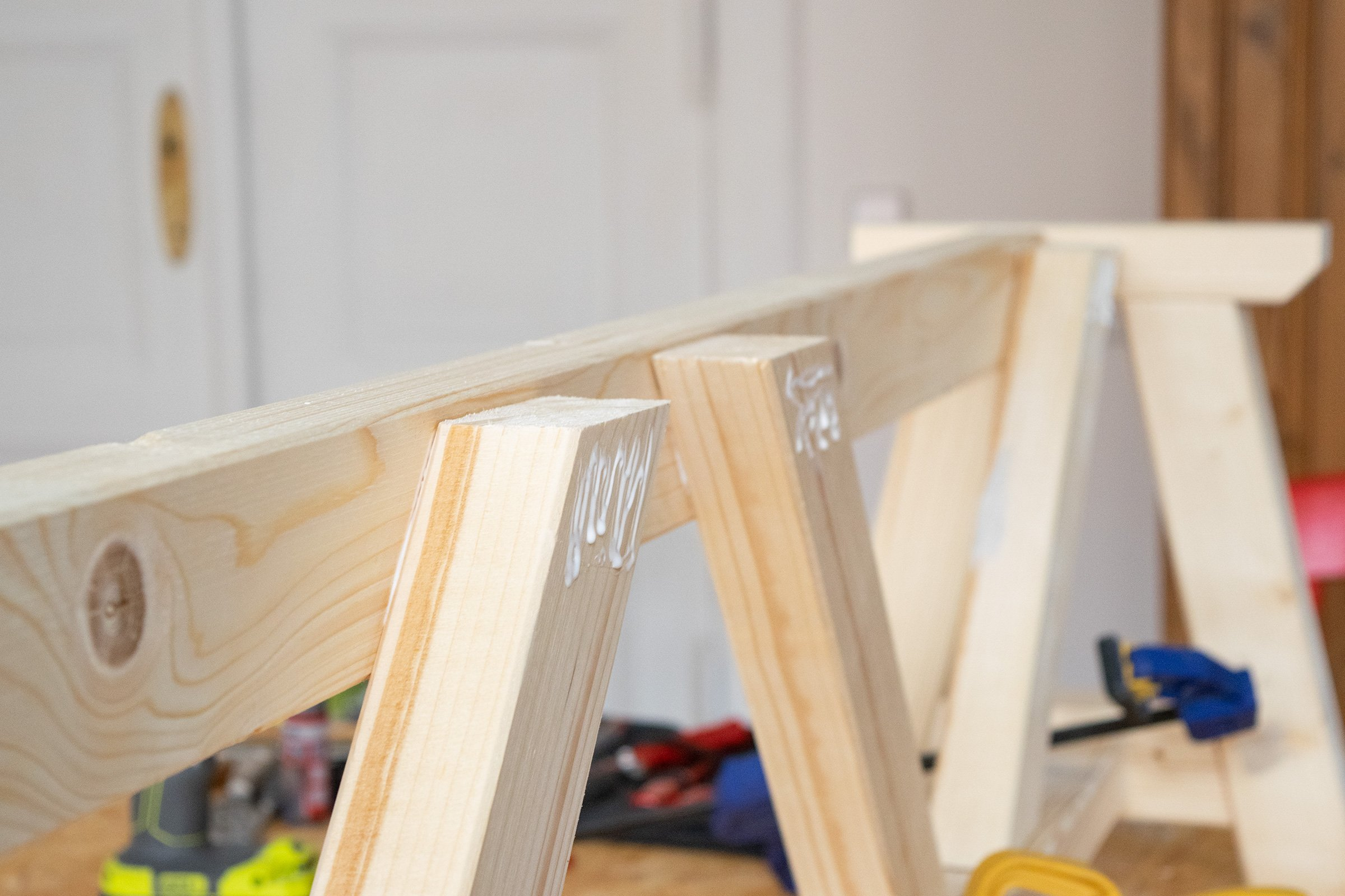 DIY Dining Room Bench - Assemble | Little House On The Corner