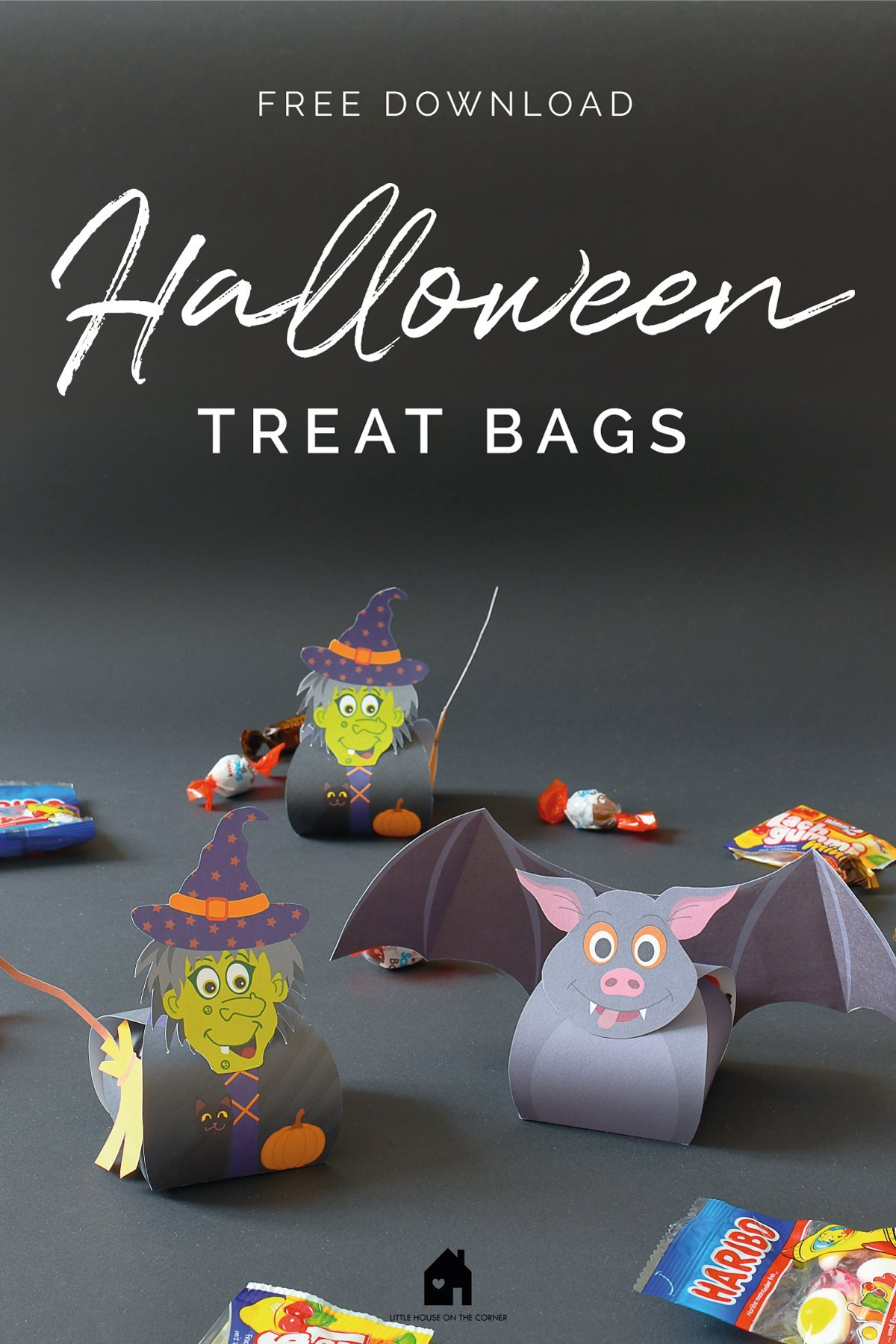Halloween Treat Bags - Bat Treat Bag - Witch Treat Bag | Little House On The Corner