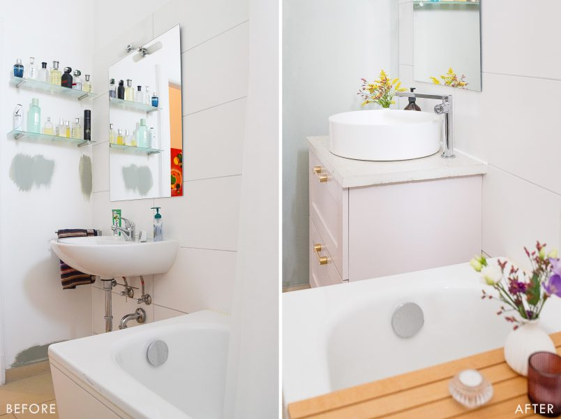 Bathroom Makeover - Before & After | Little House On The Corner