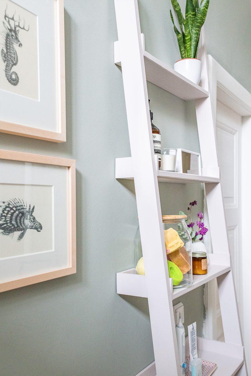 DIY Ladder Shelves | Little House On The Corner