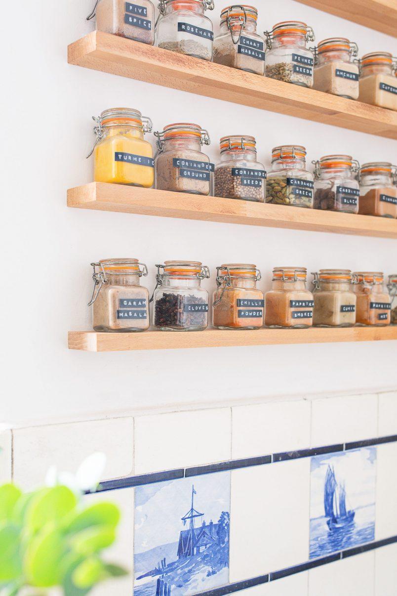 DIY Floating Spice Rack   Little House On The Corner