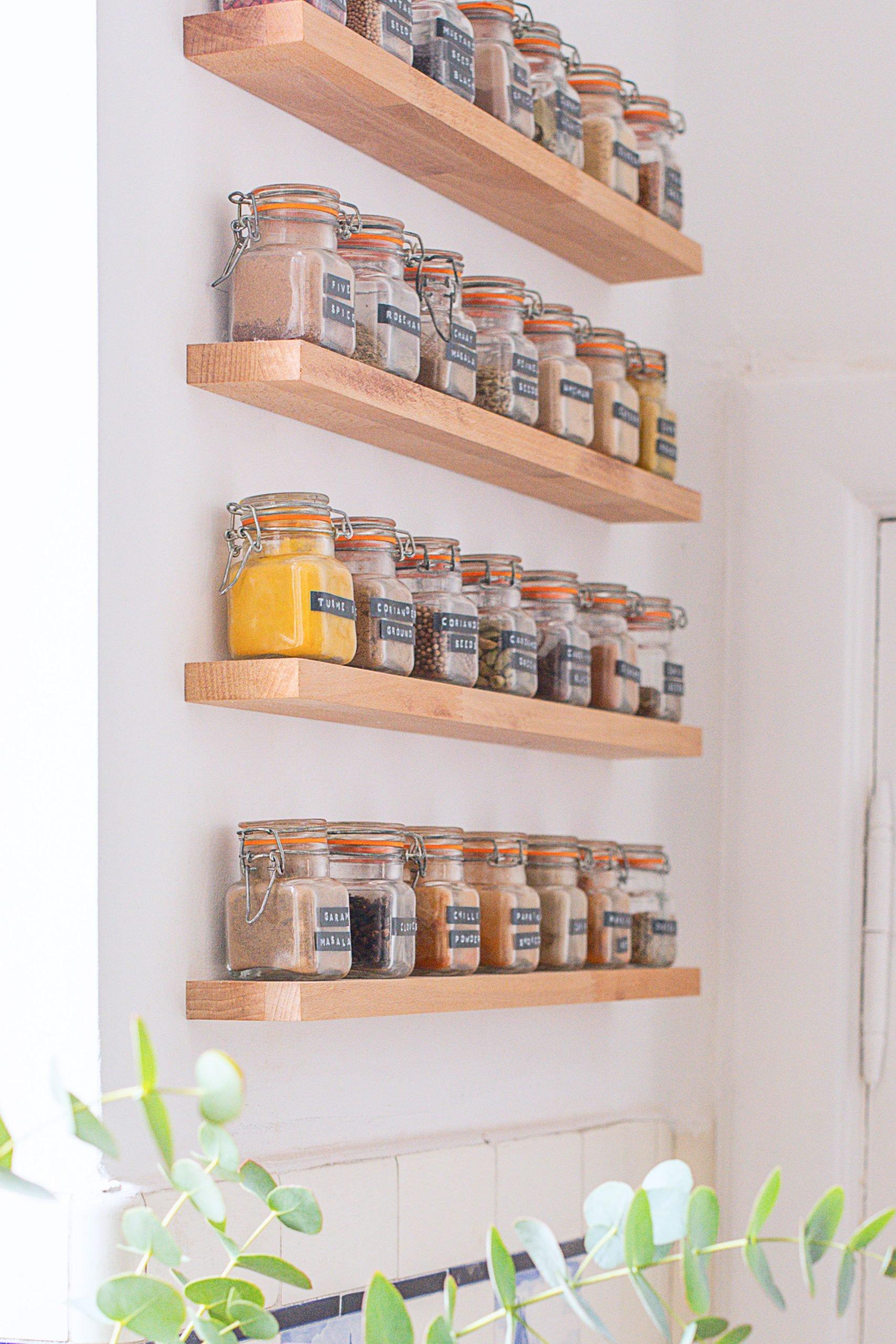 Image of: Diy Floating Spice Rack Little House On The Corner