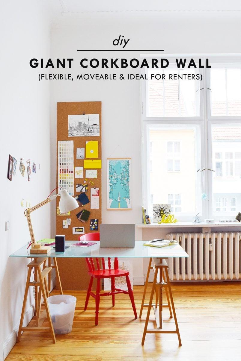 DIY Giant Corkboard Wall | Little House On The Corner