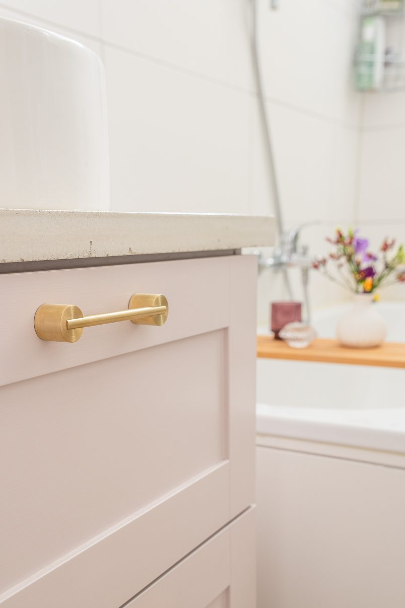 Vanity with Myford by Swarf Hardware | Little House On The Corner