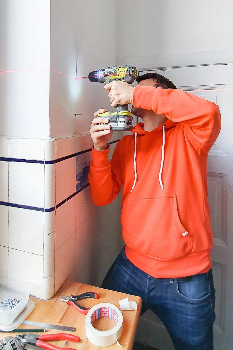 Floating Spice Shelves - Drill   Little House On The Corner