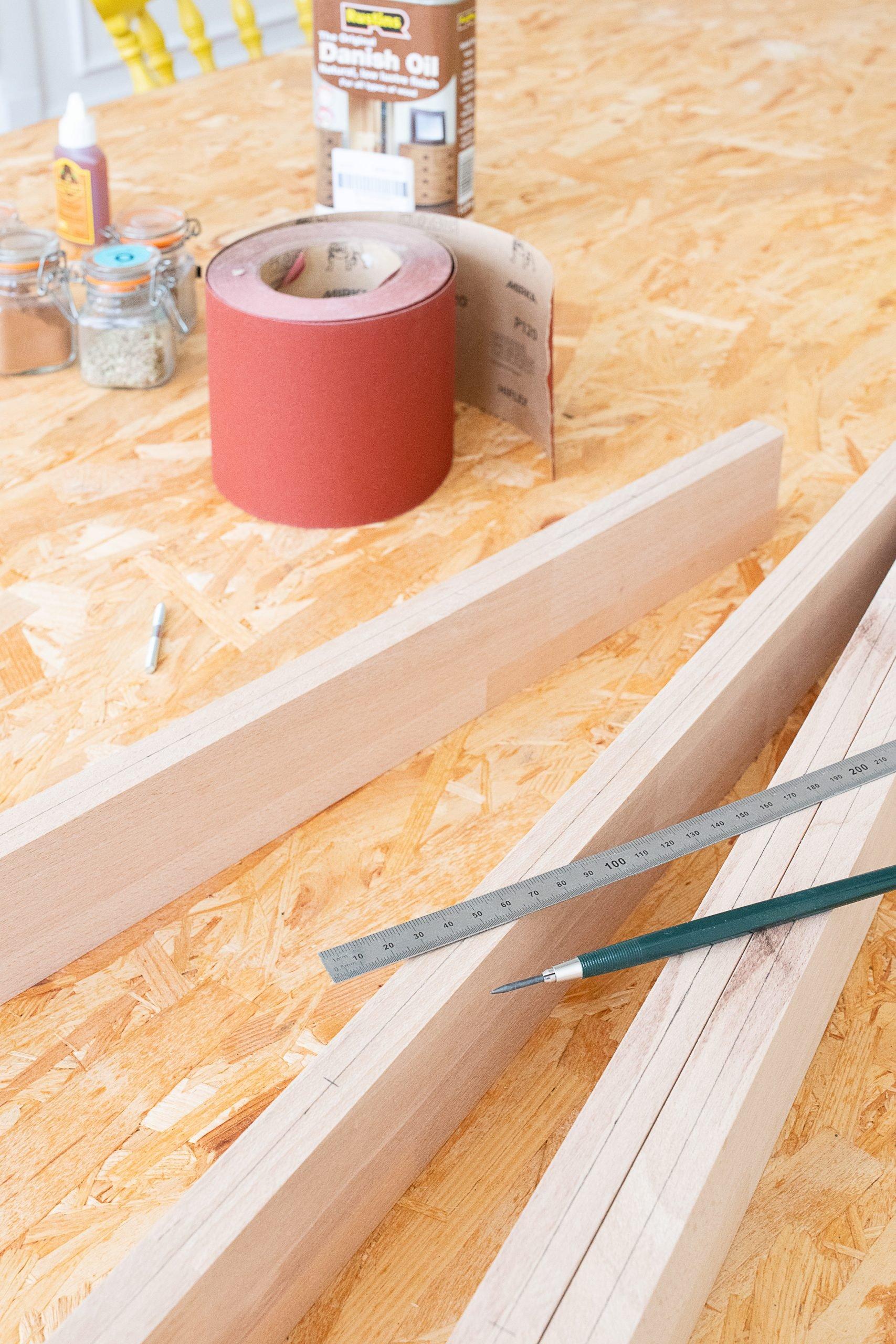 DIY Floating Spice Shelves - Drill | Little House On The Corner