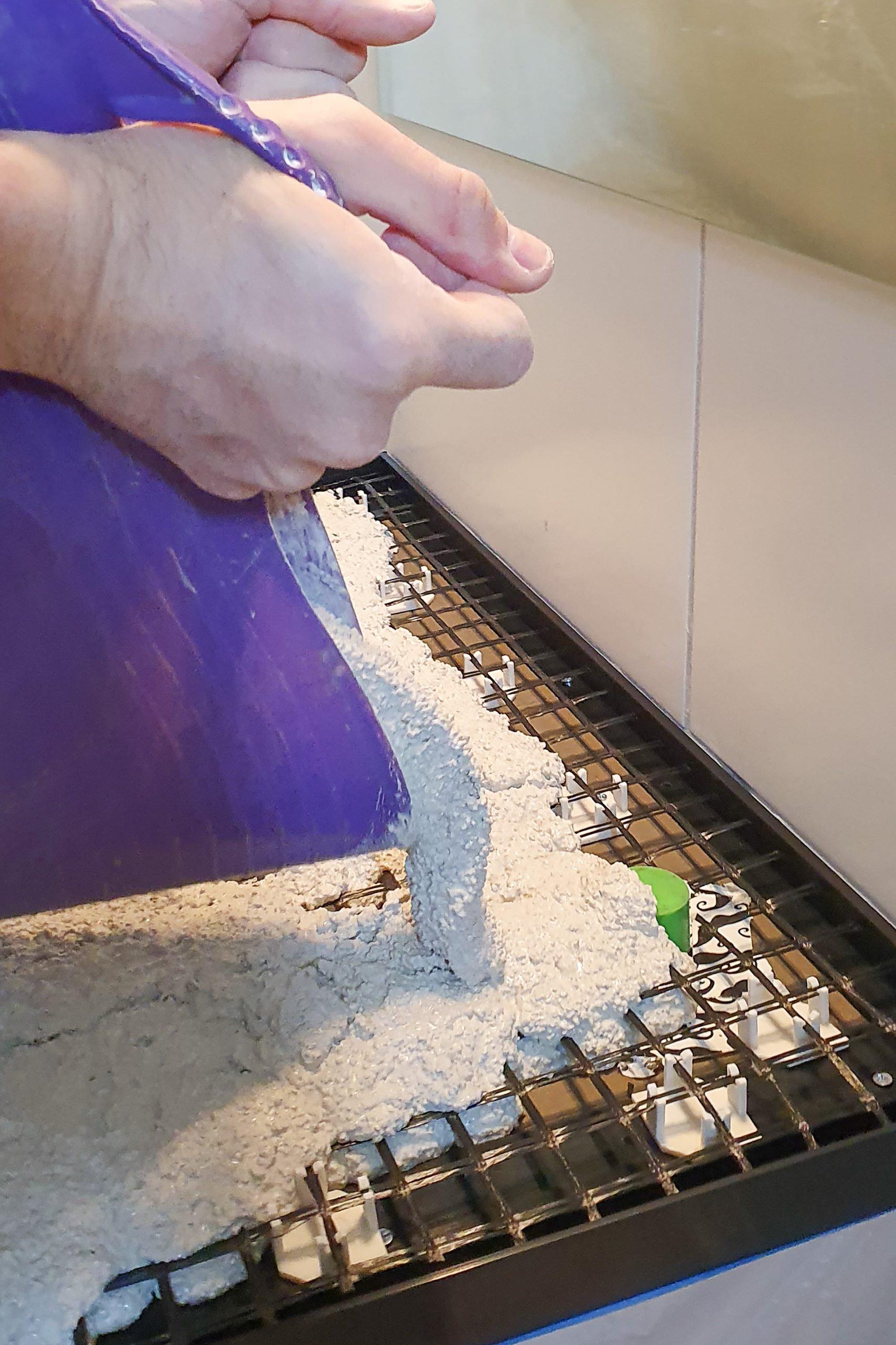 DIY Concrete Countertop - Pouring The Concrete | Little House On The Corner