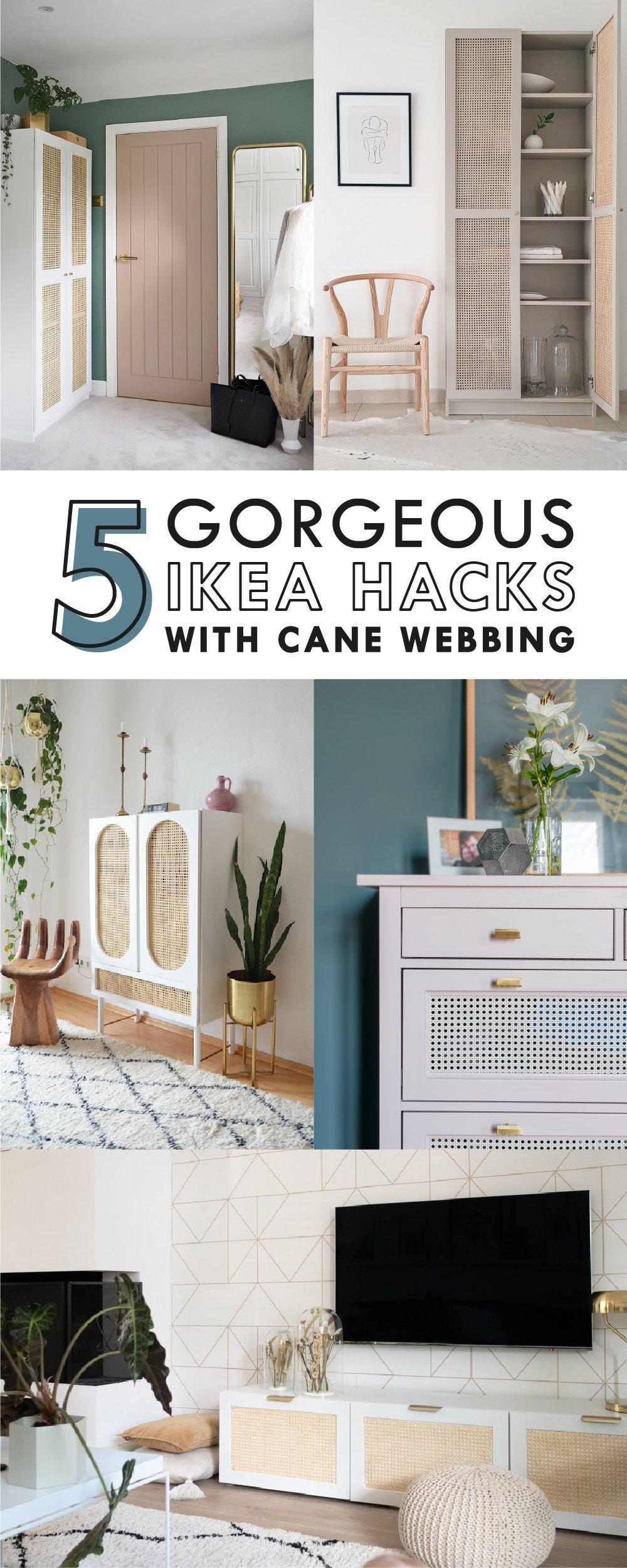 5 Amazing Ikea Hacks With Cane Webbing