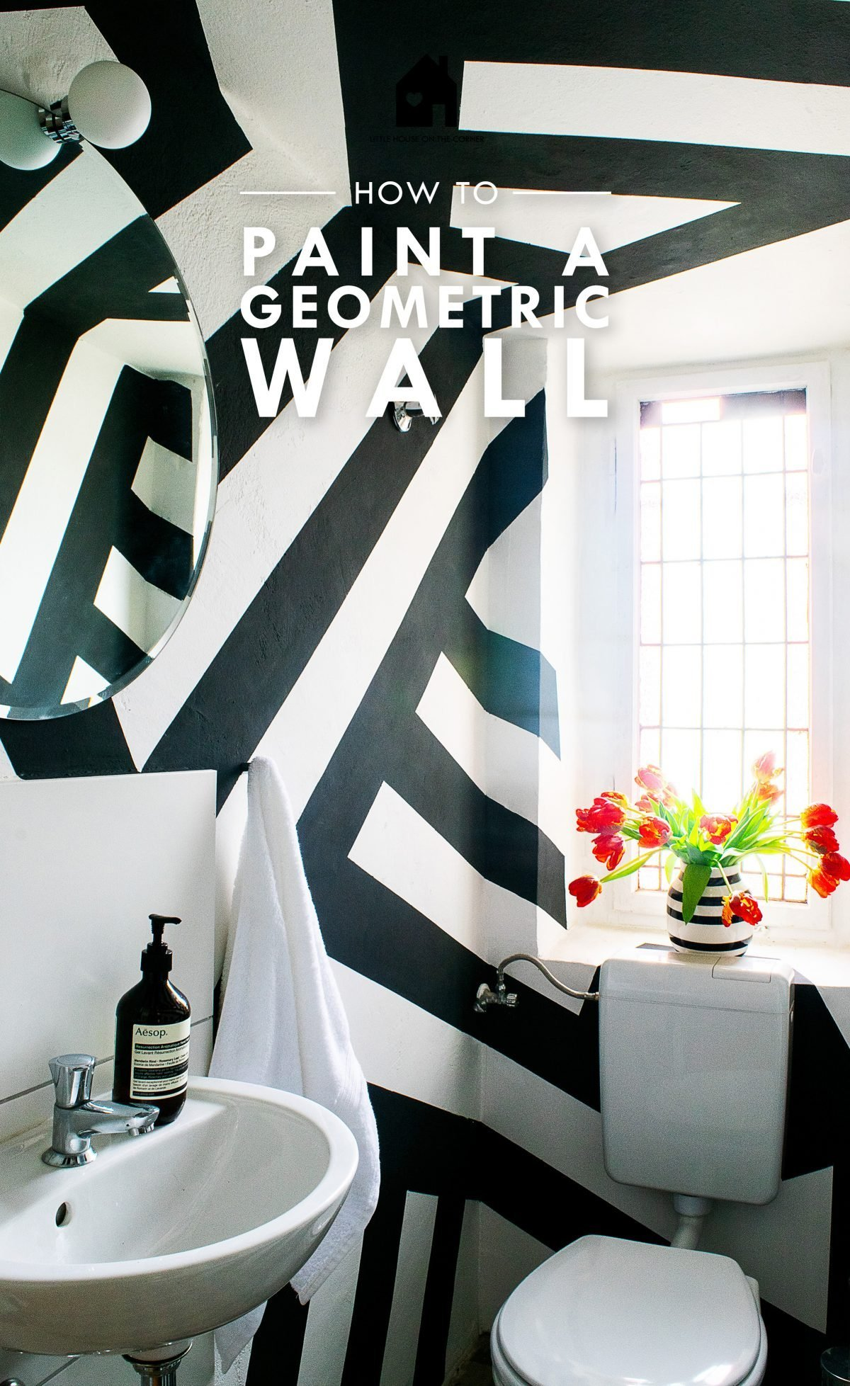 DIY Geometric Painted Walls | Little House On The Corner