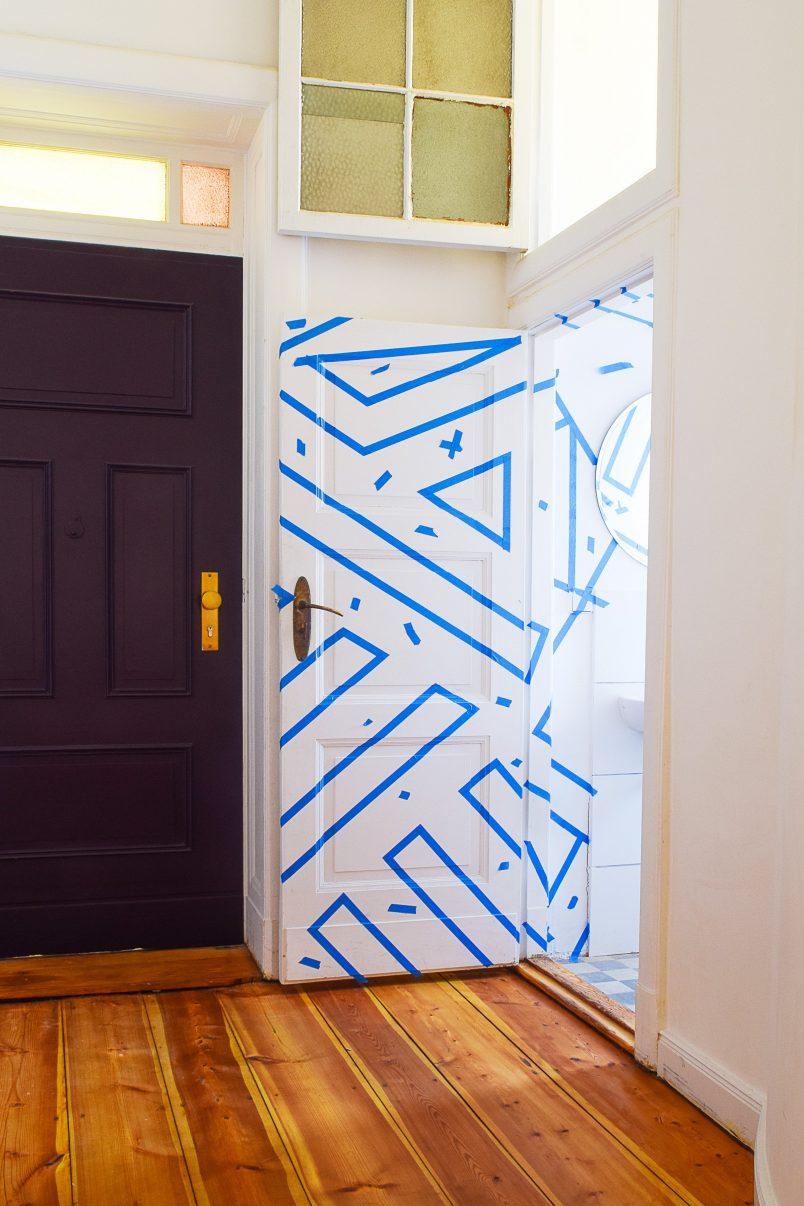 DIY Geometric Wall | Little House On The Corner