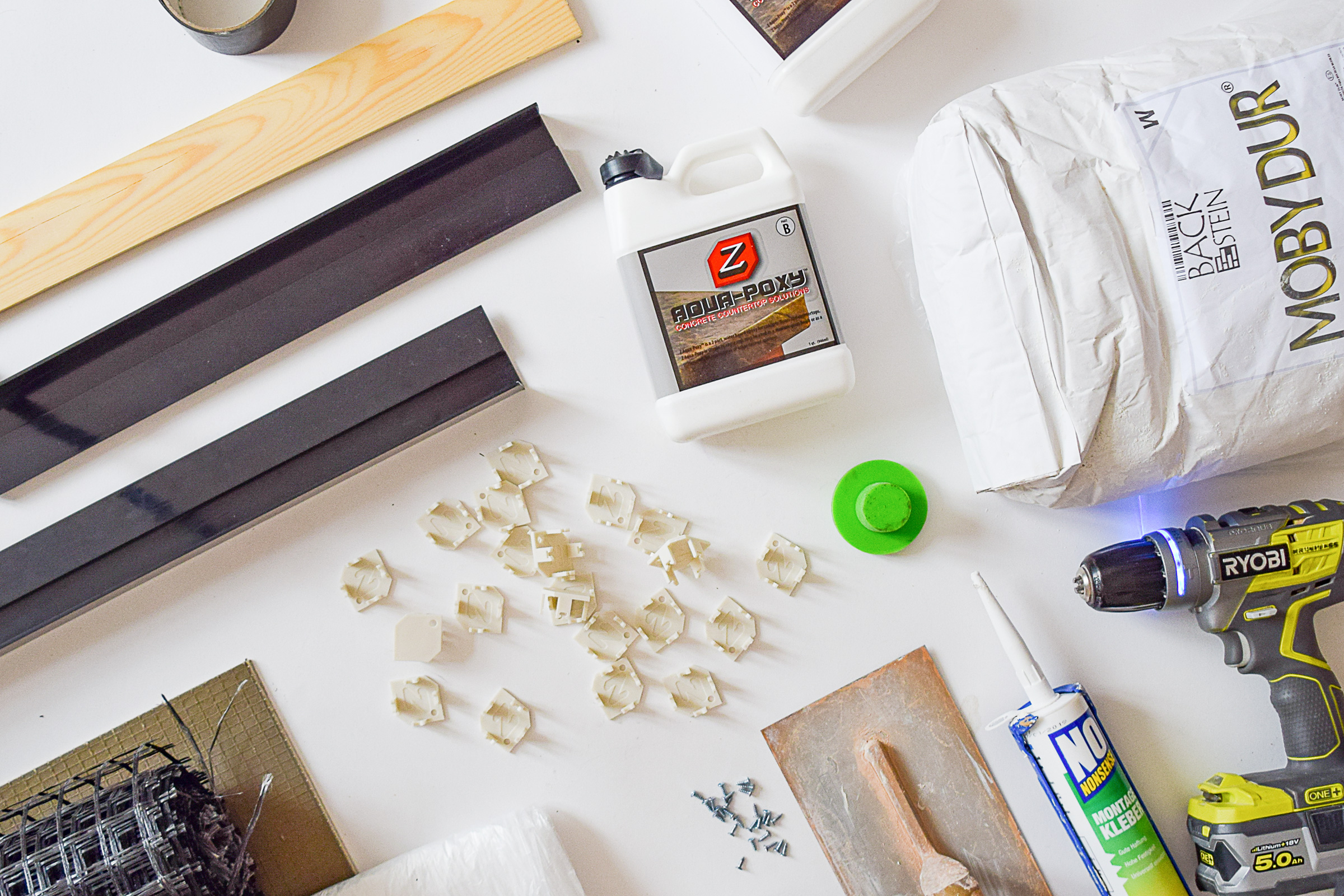 DIY Concrete Vanity Countertop | Little House On The Corner