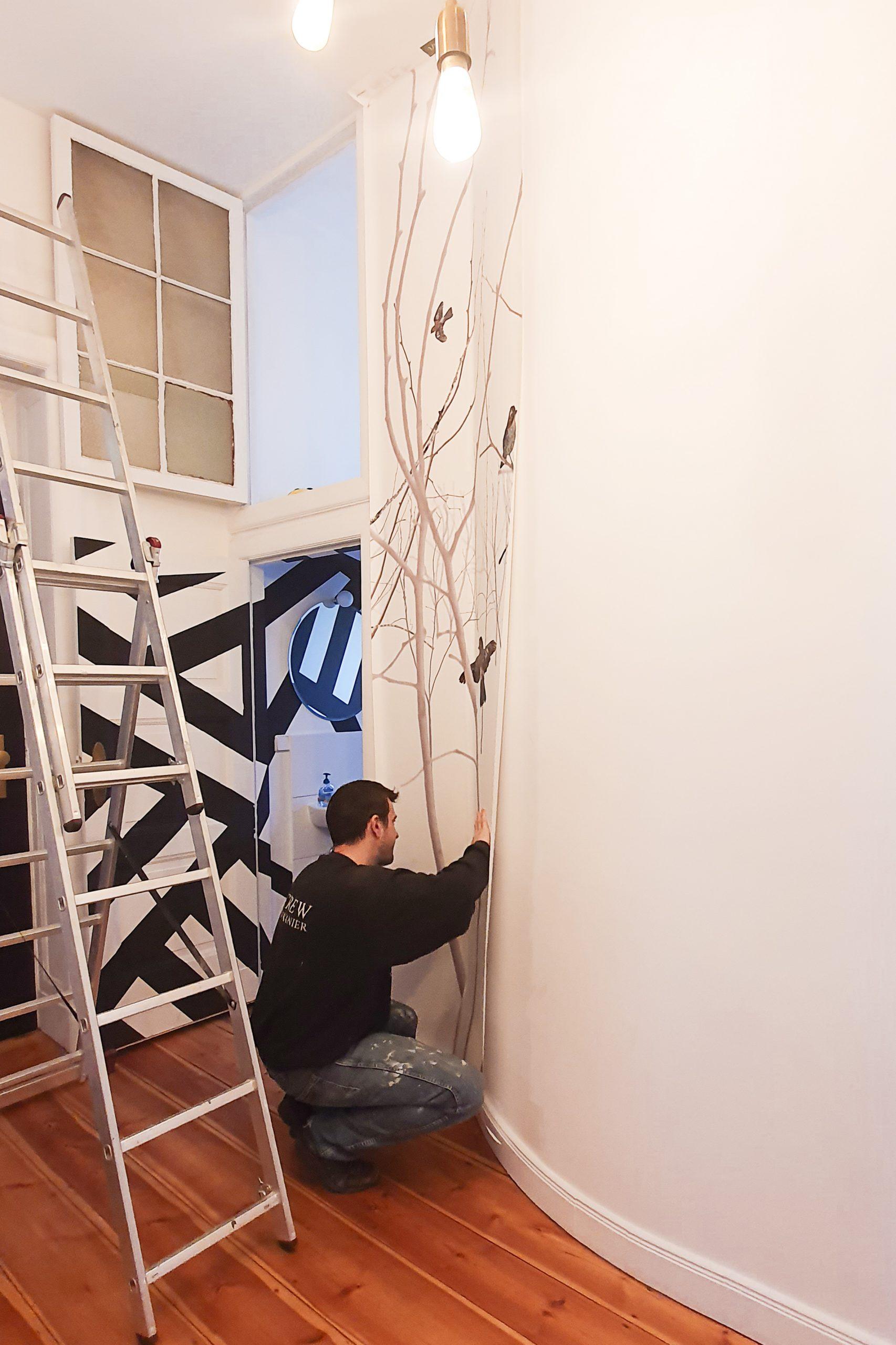 Hanging Wallpaper | Little House On The Corner