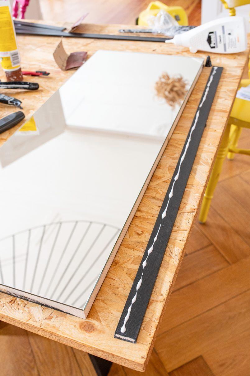 DIY Bar Cart - Attaching Edging