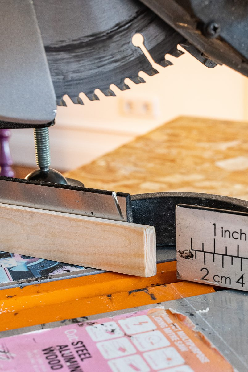 DIY Bar Cart - Cutting Edging
