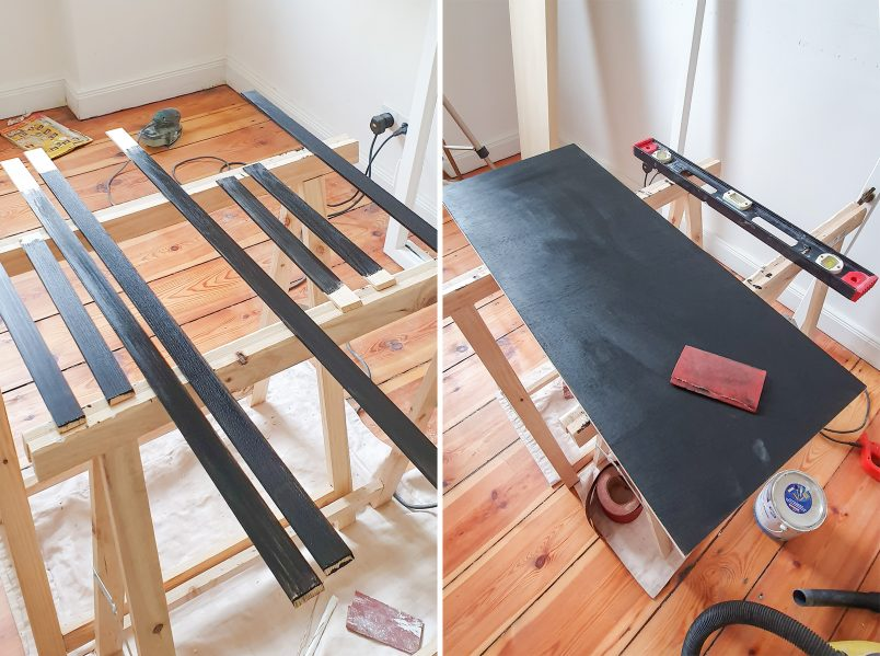 DIY Bar Cart - Painting