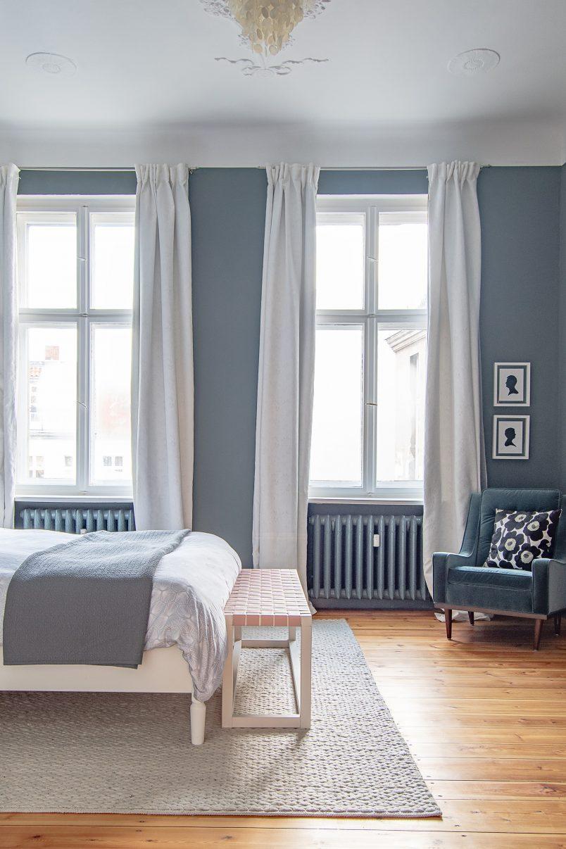 Master Bedroom with dark walls